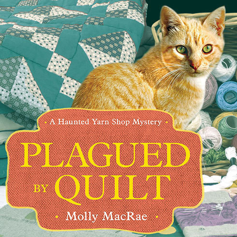 Printable Plagued by Quilt Audiobook Cover Art