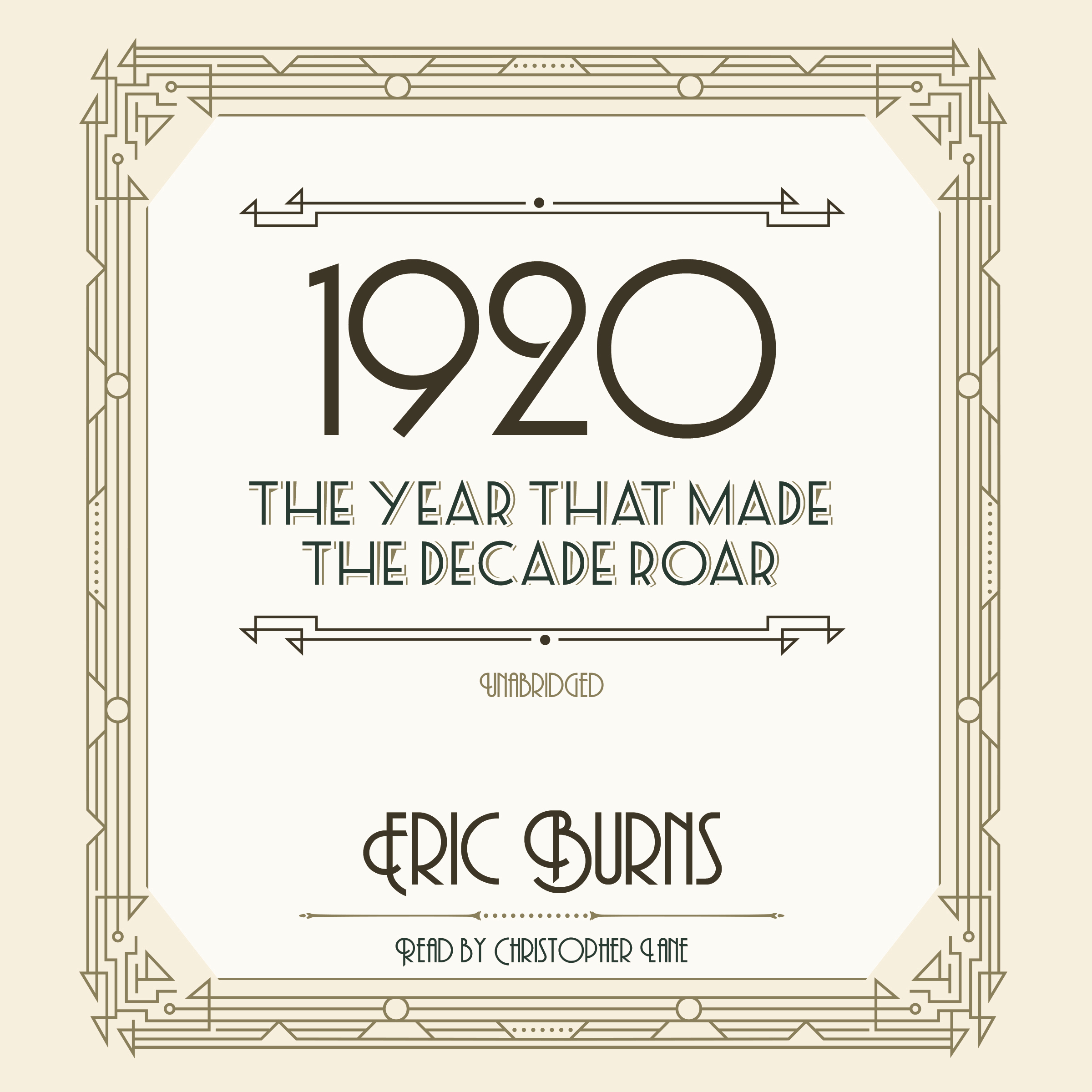 Printable 1920: The Year That Made the Decade Roar Audiobook Cover Art
