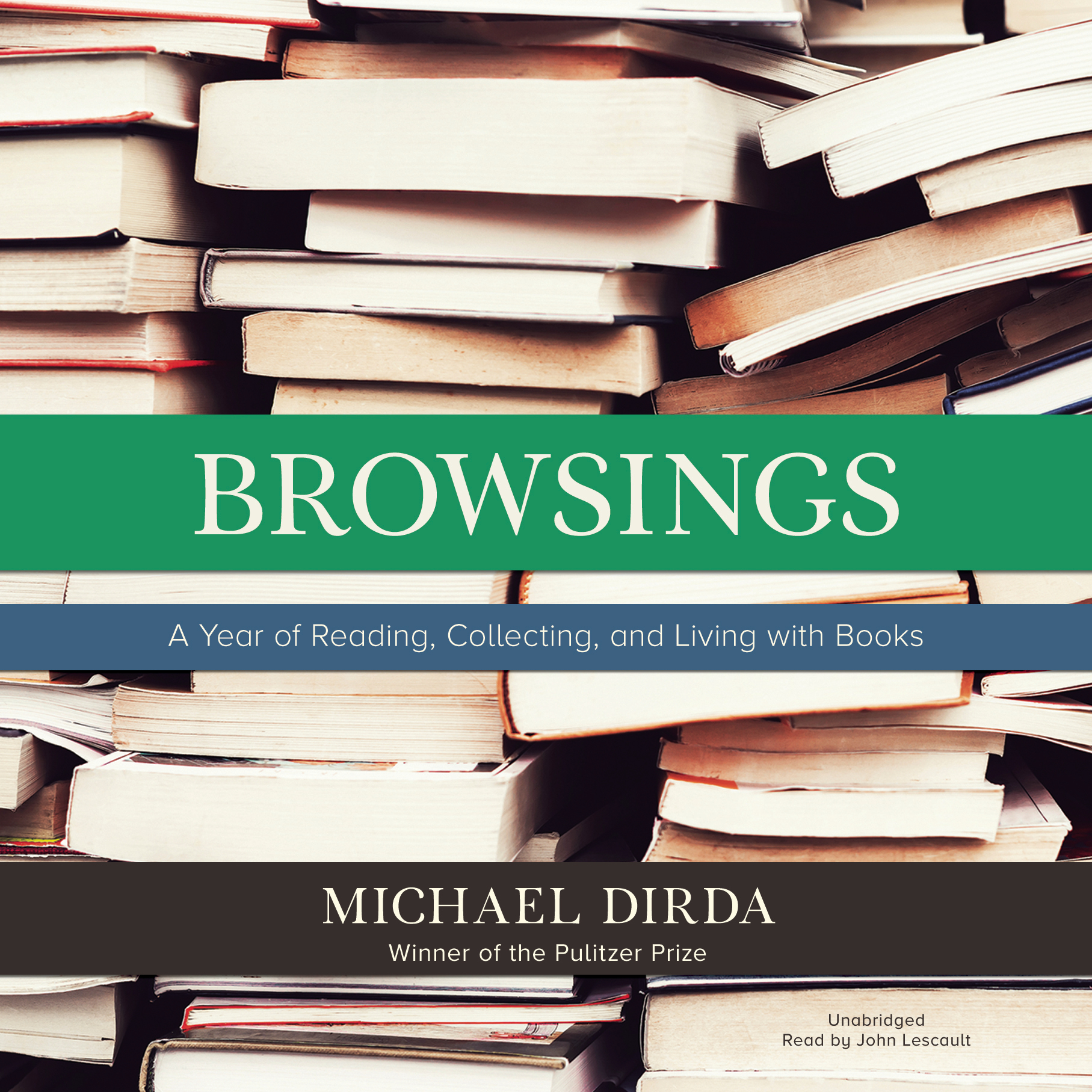 Printable Browsings: A Year of Reading, Collecting, and Living with Books Audiobook Cover Art