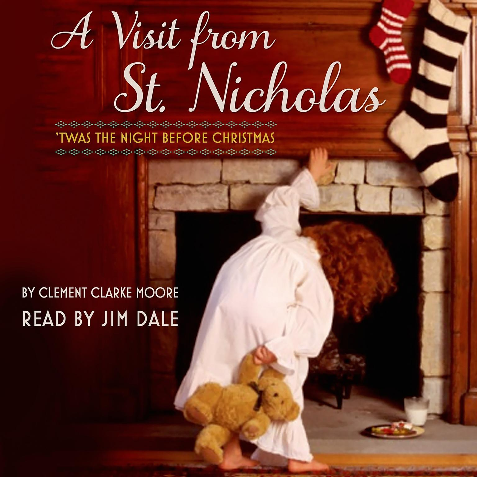 Printable 'Twas the Night Before Christmas: A Visit from St. Nicholas Audiobook Cover Art