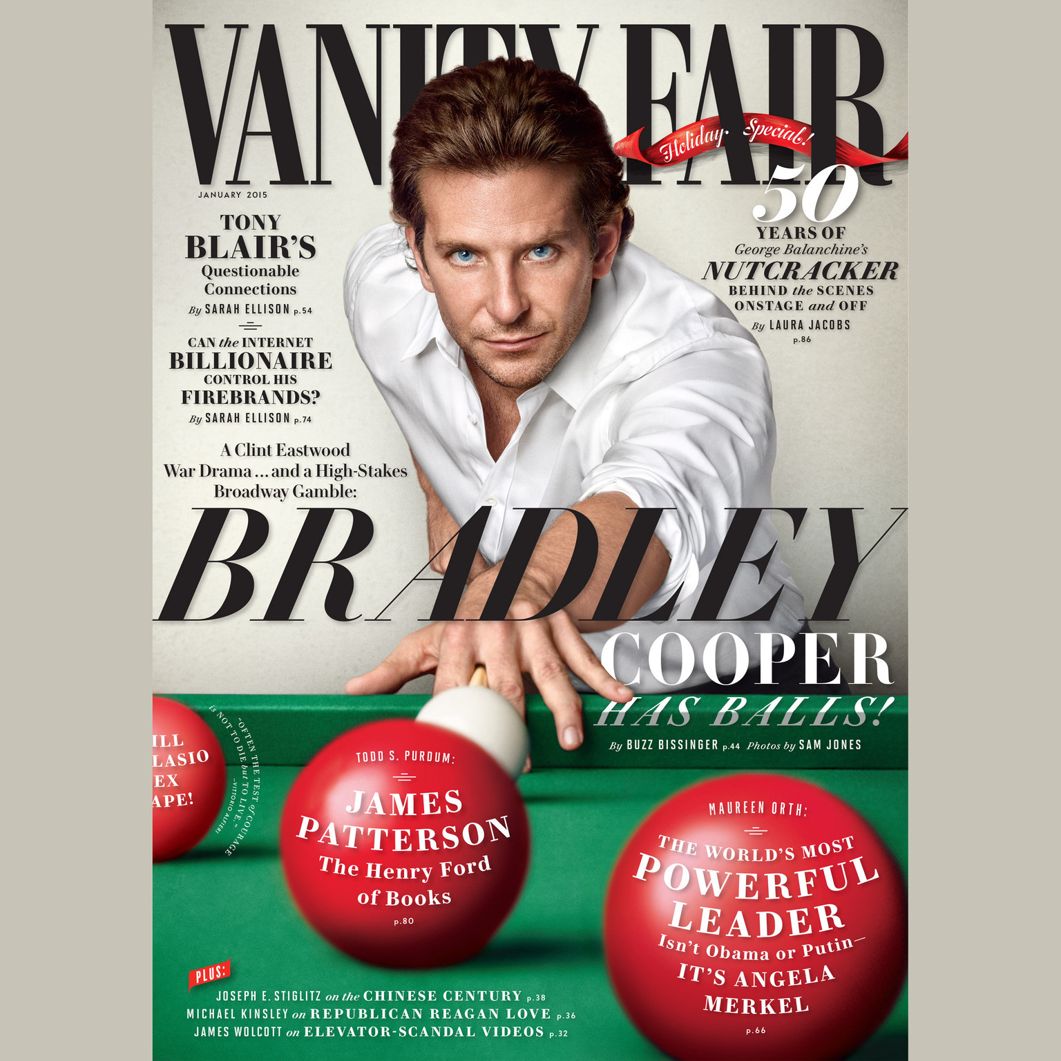 Printable Vanity Fair: January 2015 Issue Audiobook Cover Art
