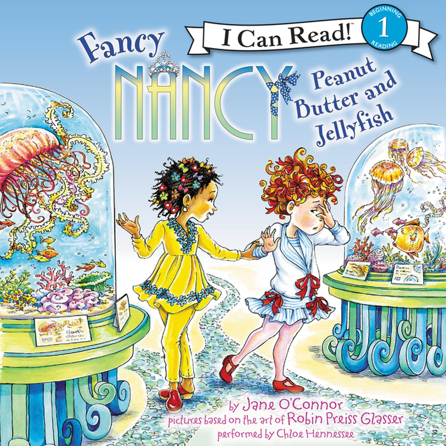 Printable Fancy Nancy: Peanut Butter and Jellyfish Audiobook Cover Art