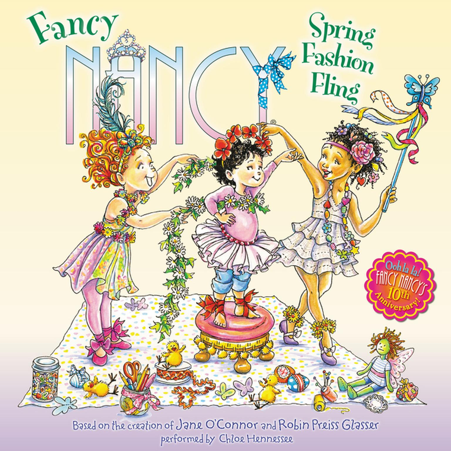 Printable Fancy Nancy: Spring Fashion Fling Audiobook Cover Art