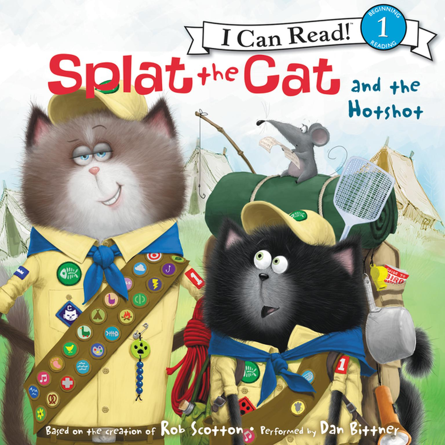 Printable Splat the Cat and the Hotshot Audiobook Cover Art