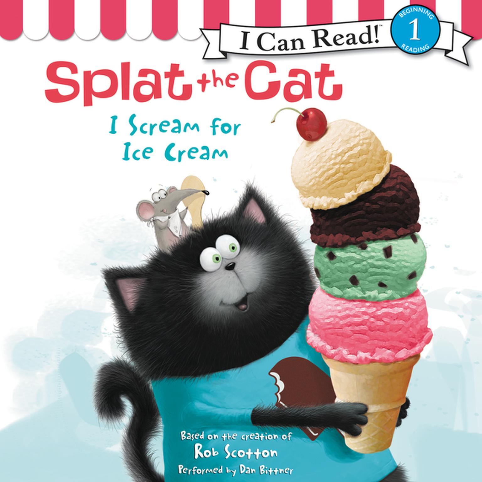 Printable Splat the Cat: I Scream for Ice Cream Audiobook Cover Art