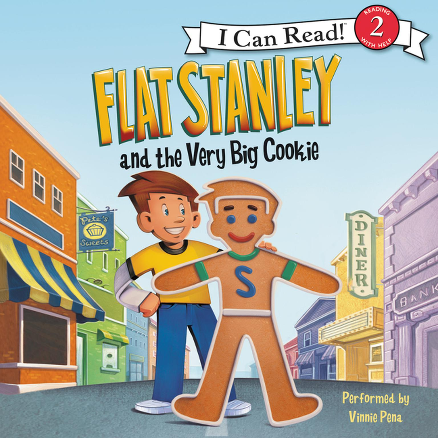 Printable Flat Stanley and the Very Big Cookie Audiobook Cover Art