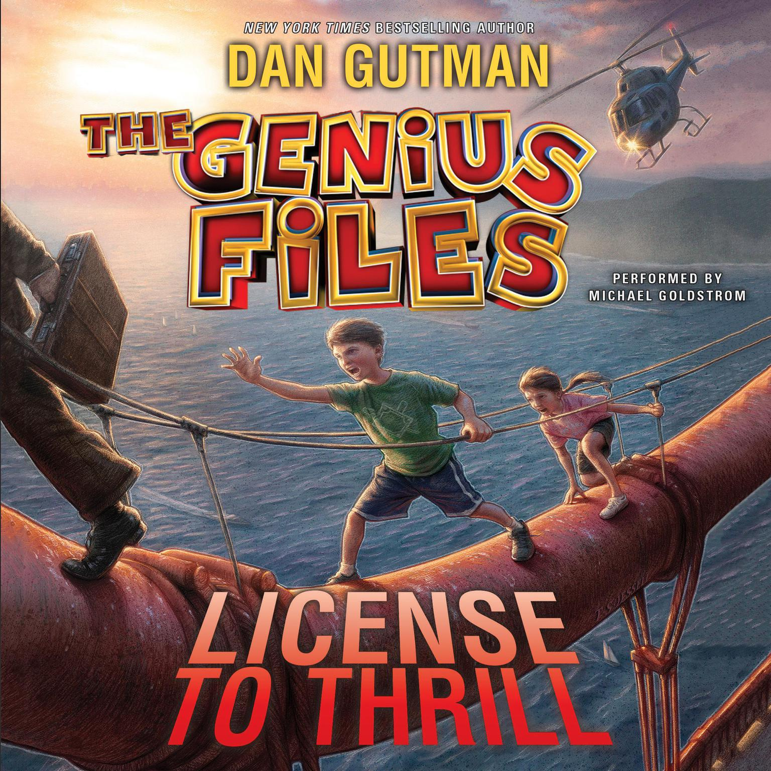 Printable The Genius Files #5: License to Thrill Audiobook Cover Art