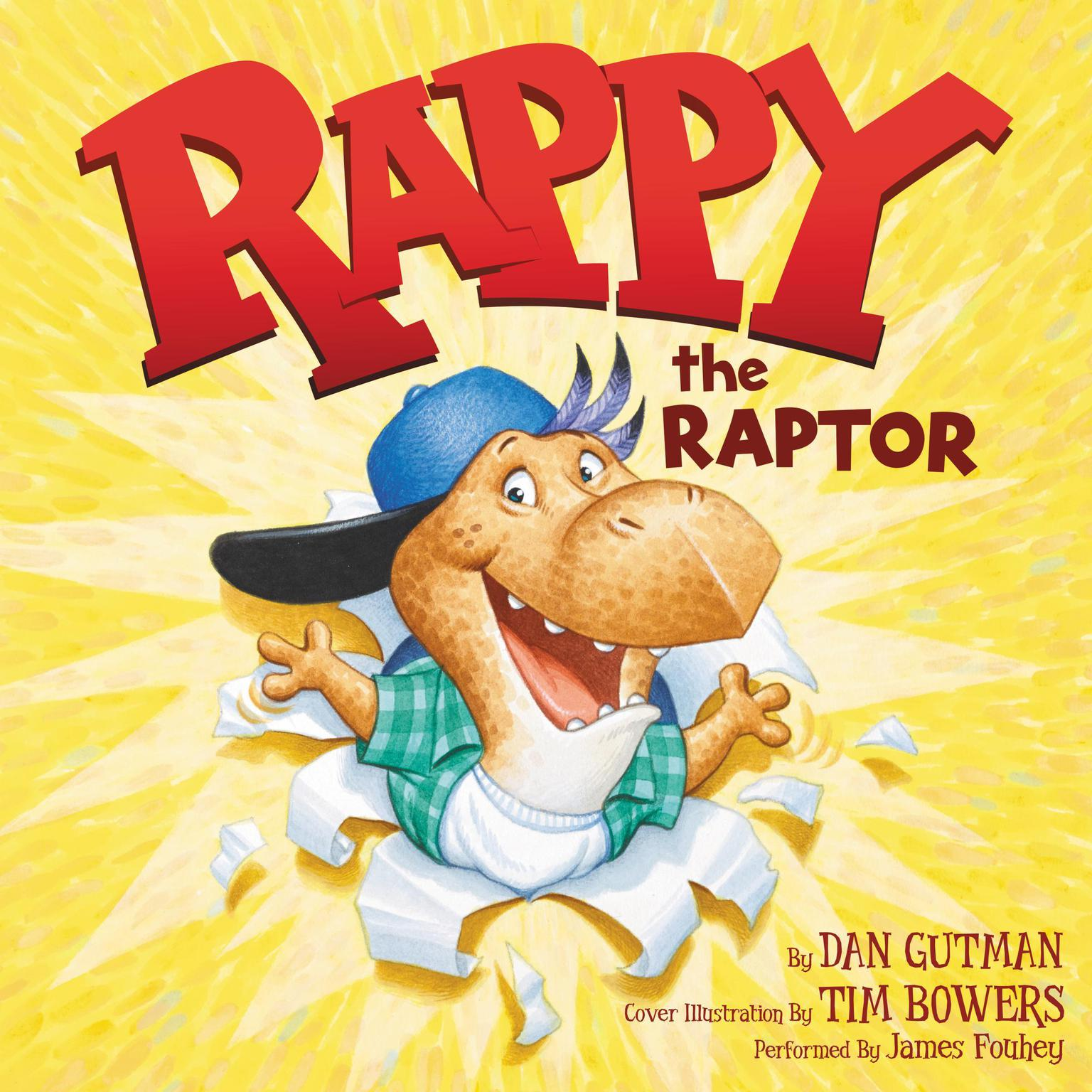 Printable Rappy the Raptor Audiobook Cover Art