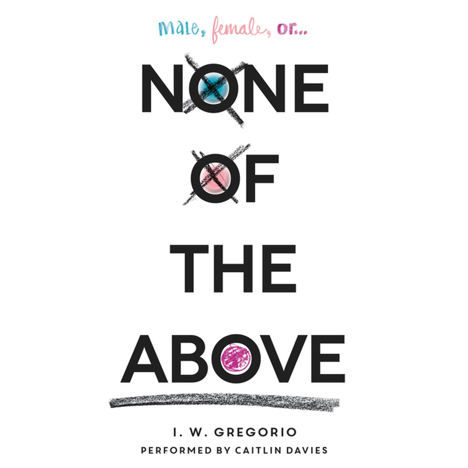 Printable None of the Above Audiobook Cover Art