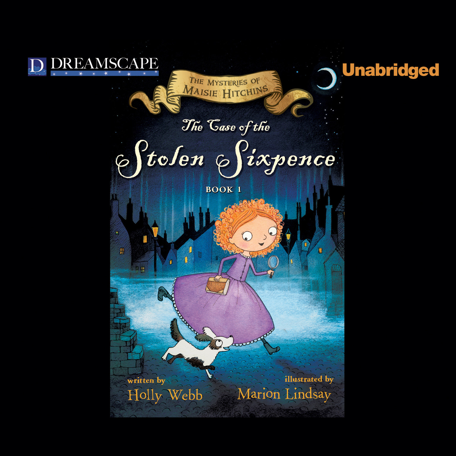 Printable The Case of the Stolen Sixpence: The Mysteries of Maisie Hitchins Audiobook Cover Art