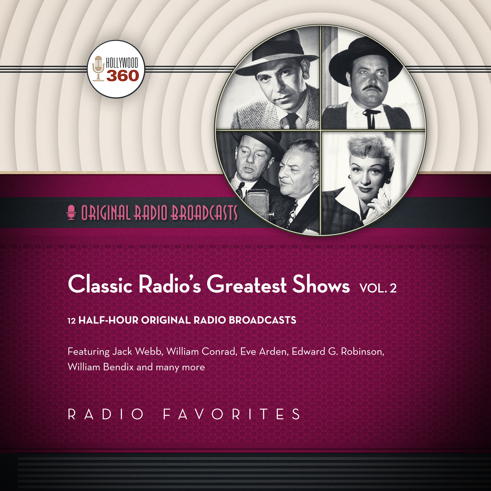 Printable Classic Radio's Greatest Shows, Vol. 2 Audiobook Cover Art