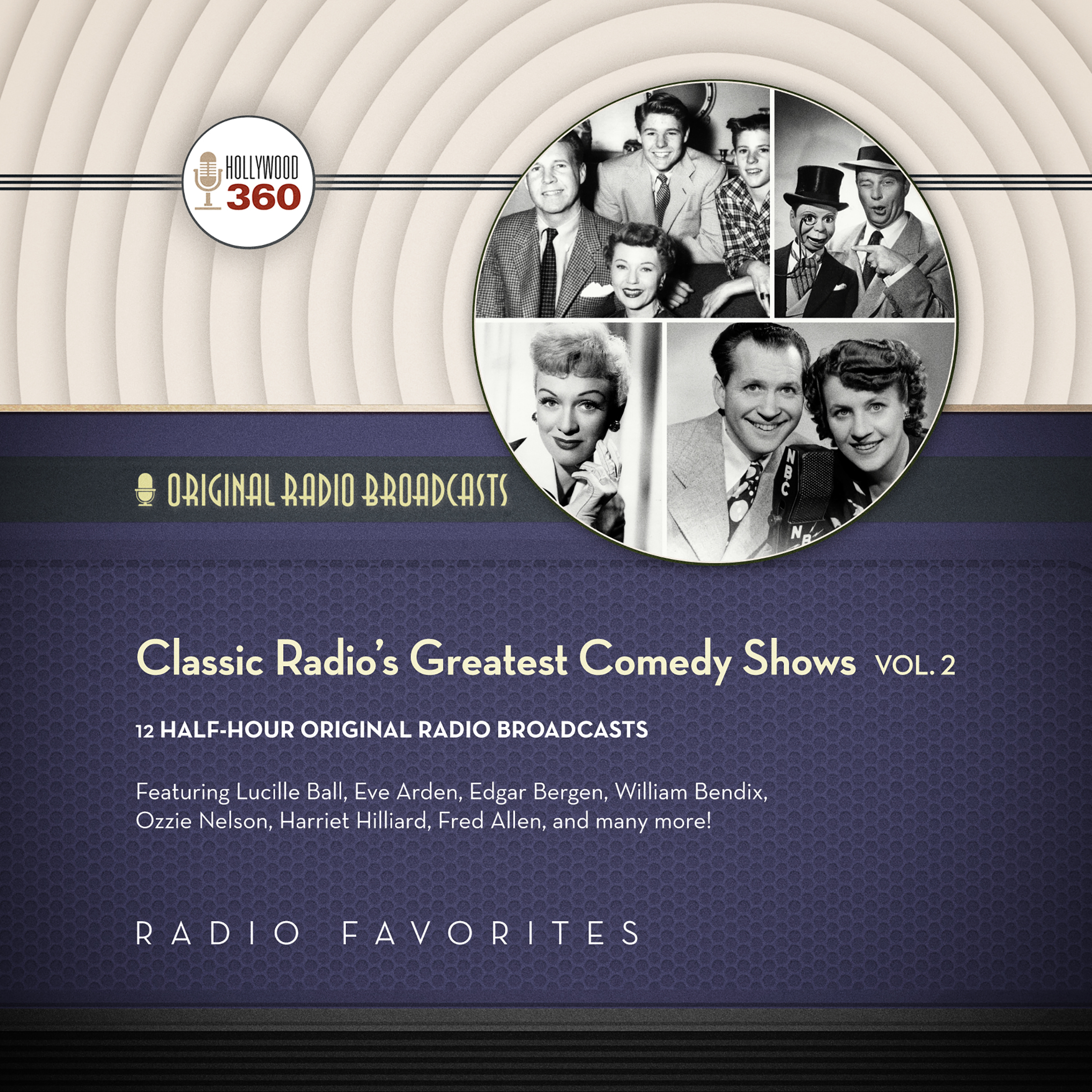 Printable Classic Radio's Greatest Comedy Shows, Vol. 2 Audiobook Cover Art