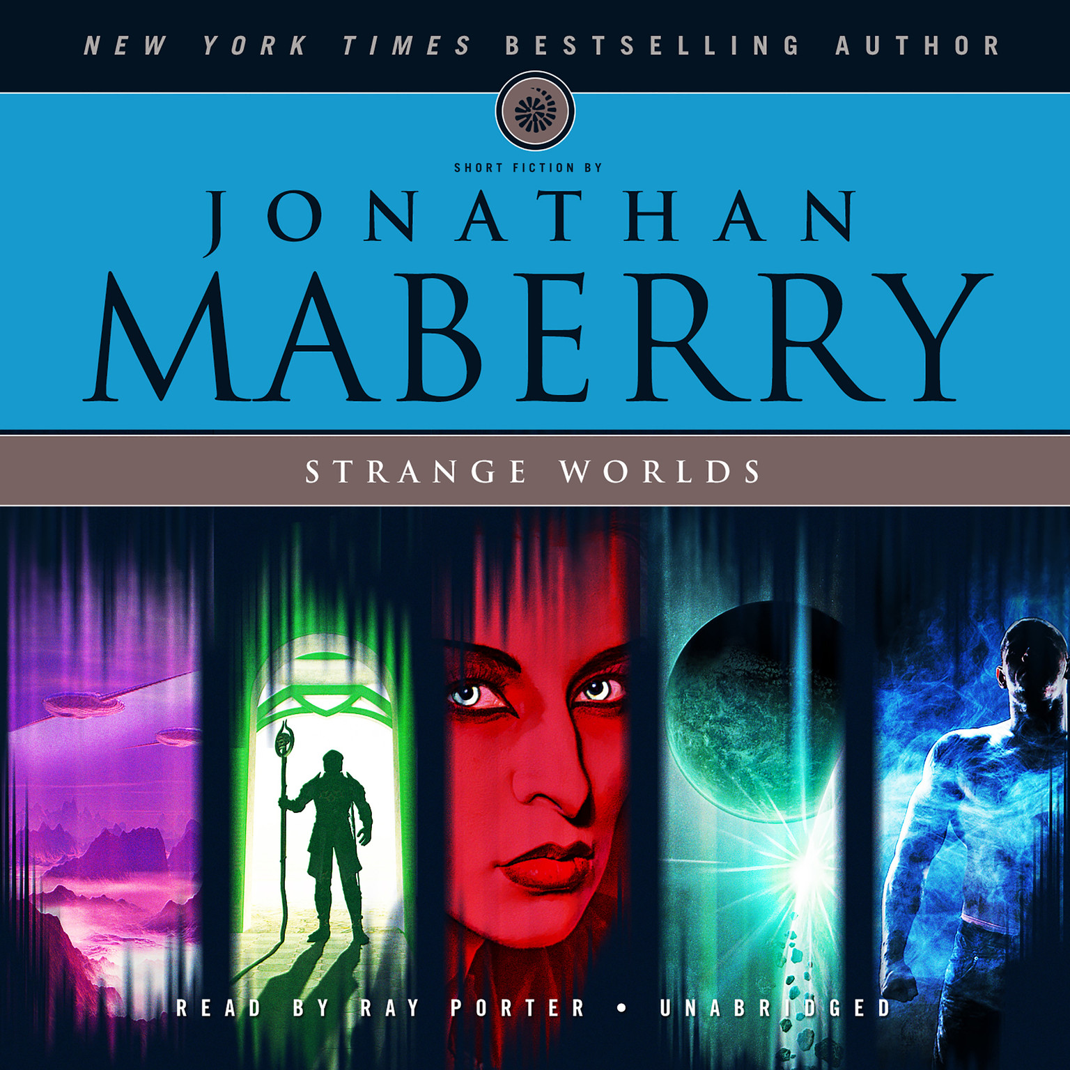 Printable Strange Worlds: Short Fiction by Jonathan Maberry Audiobook Cover Art