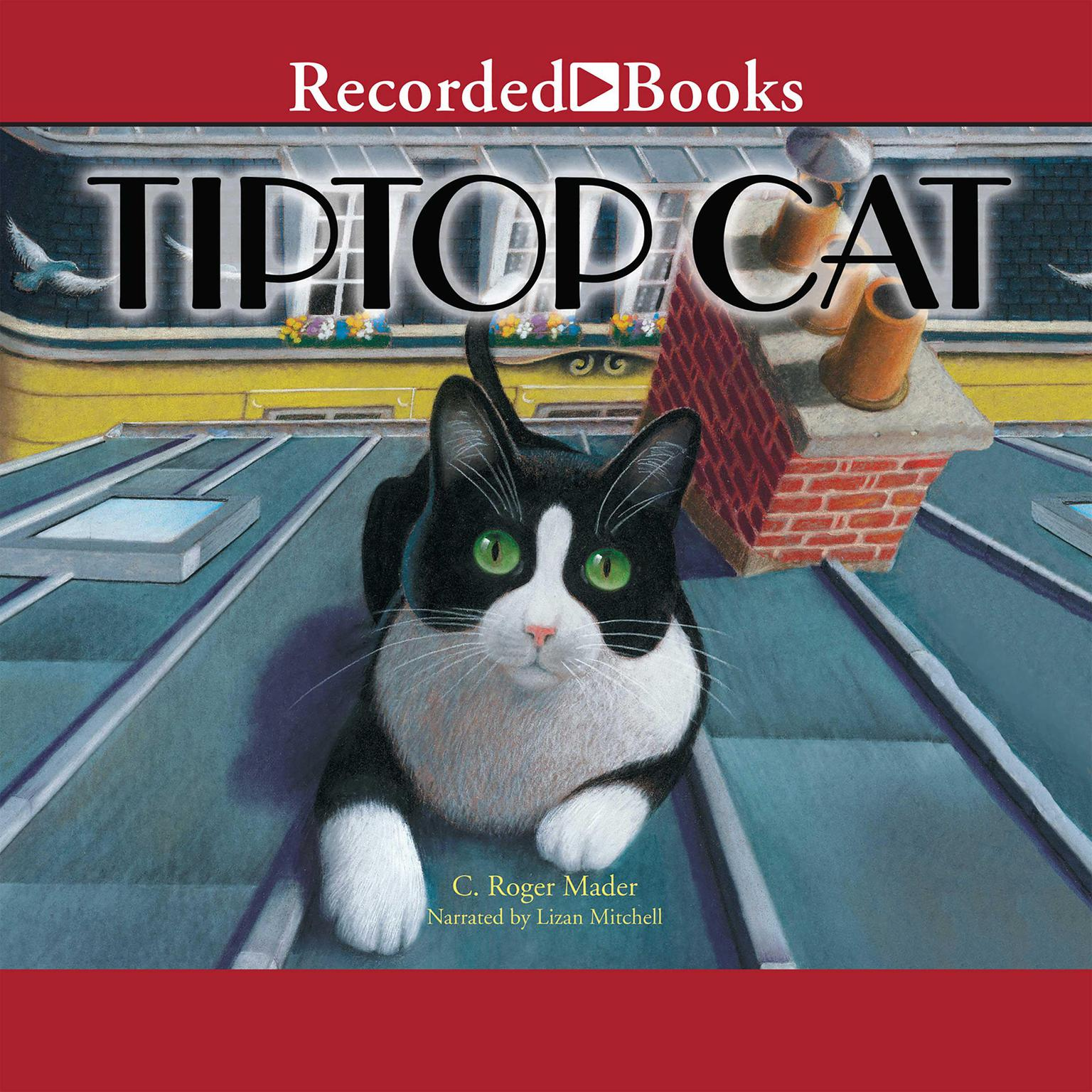 Printable Tiptop Cat Audiobook Cover Art