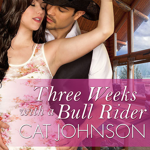 Printable Three Weeks with a Bull Rider Audiobook Cover Art