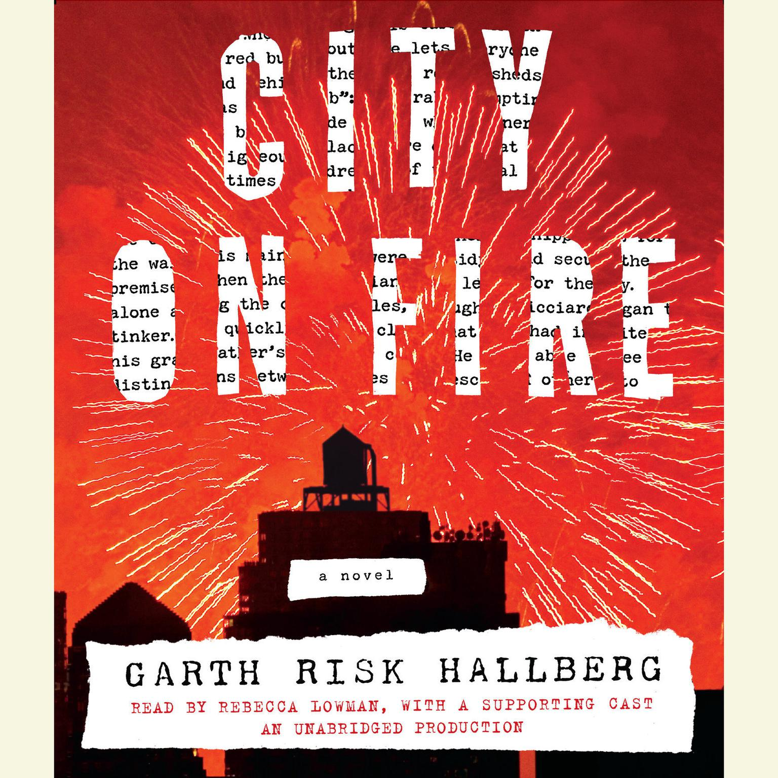 Printable City on Fire: A novel Audiobook Cover Art