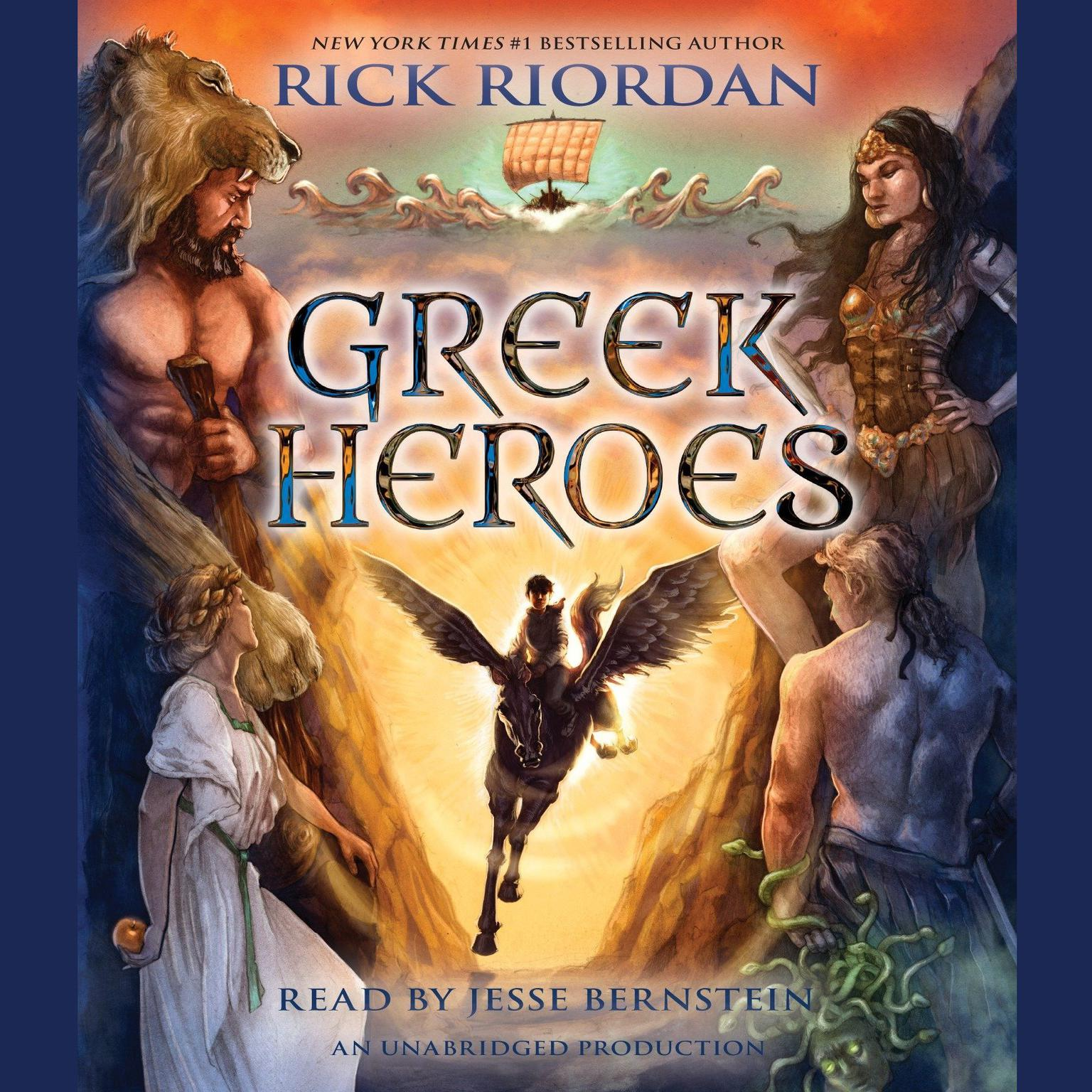 Printable Percy Jackson's Greek Heroes Audiobook Cover Art