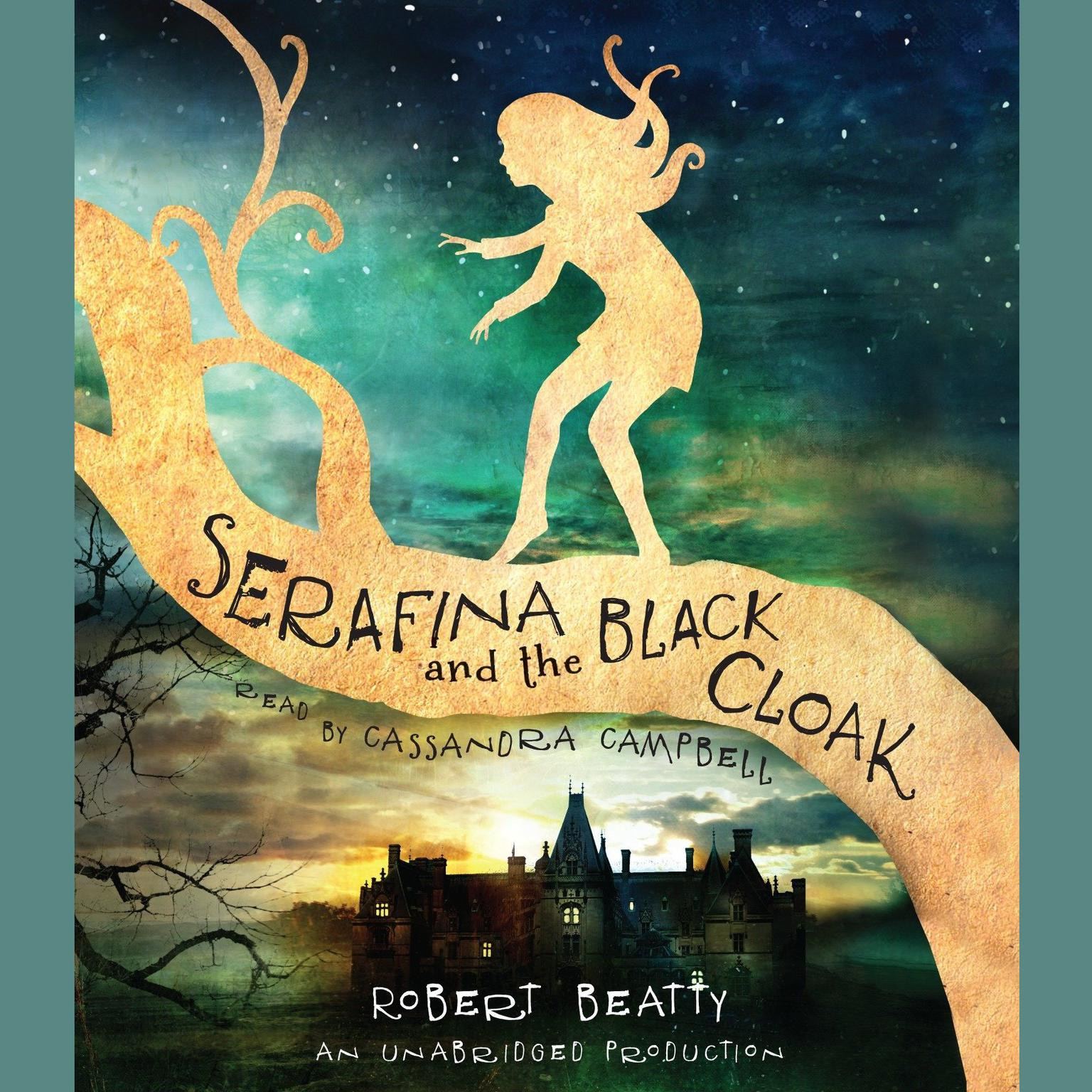 Printable Serafina and the Black Cloak Audiobook Cover Art