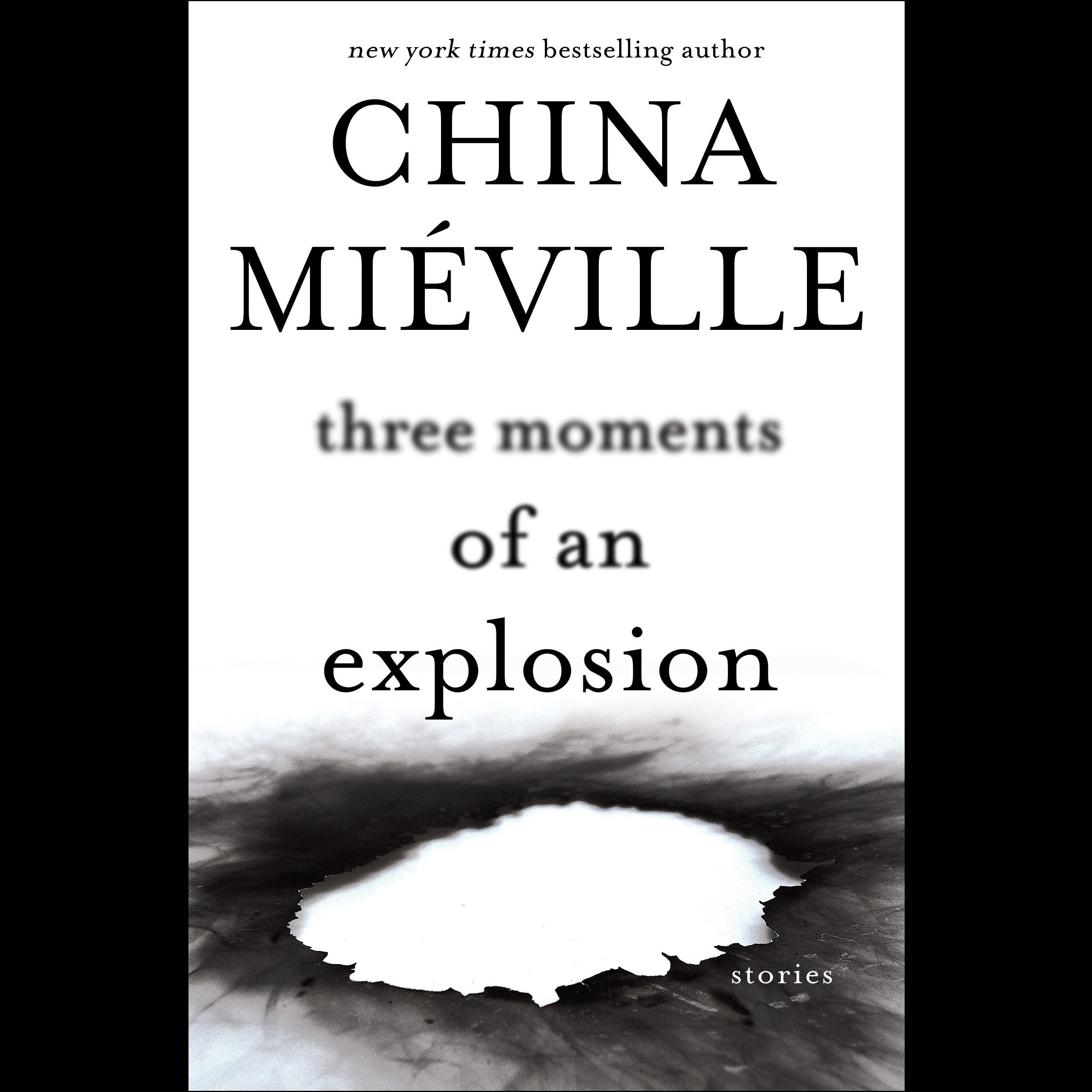 Printable Three Moments of an Explosion: Stories Audiobook Cover Art