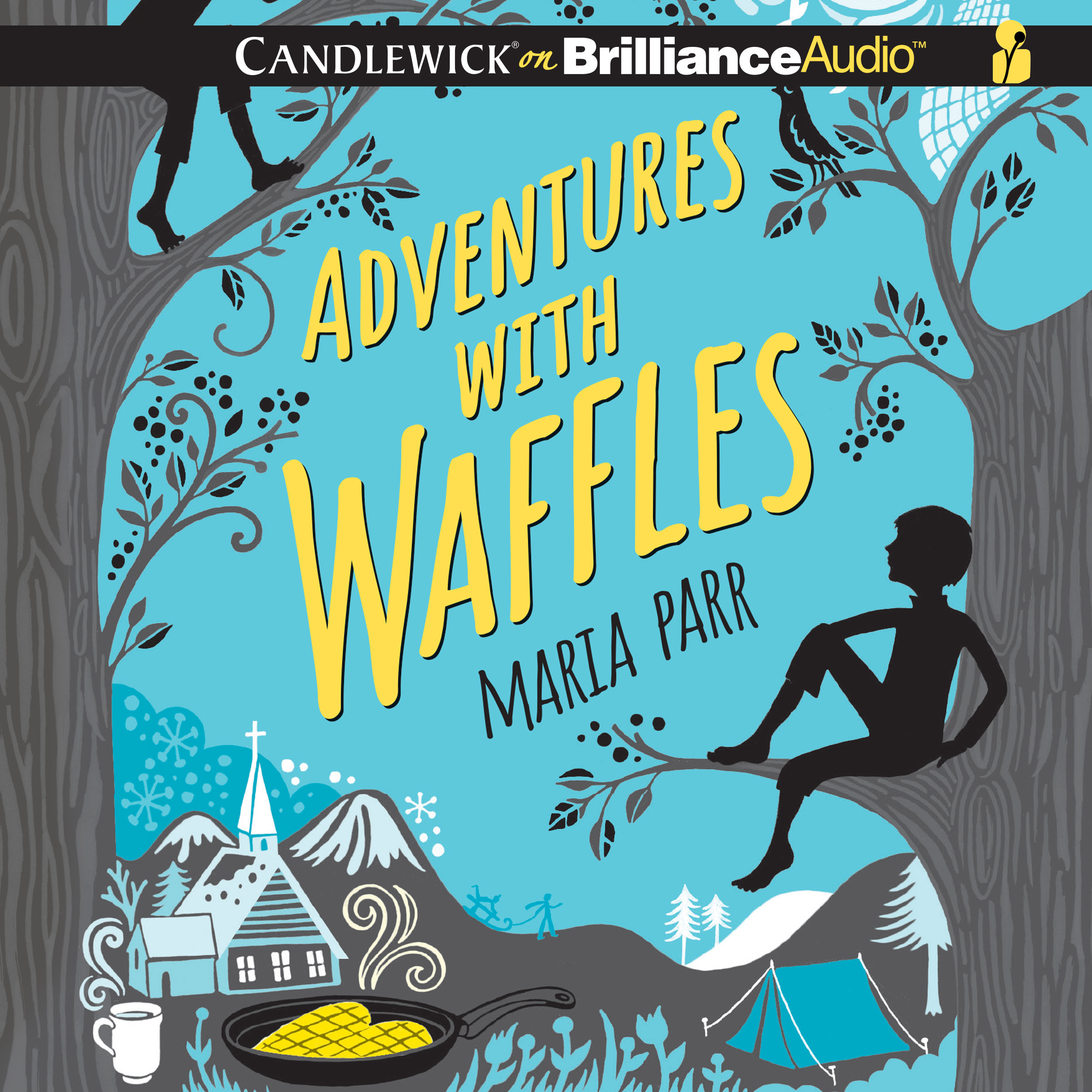 Printable Adventures with Waffles Audiobook Cover Art