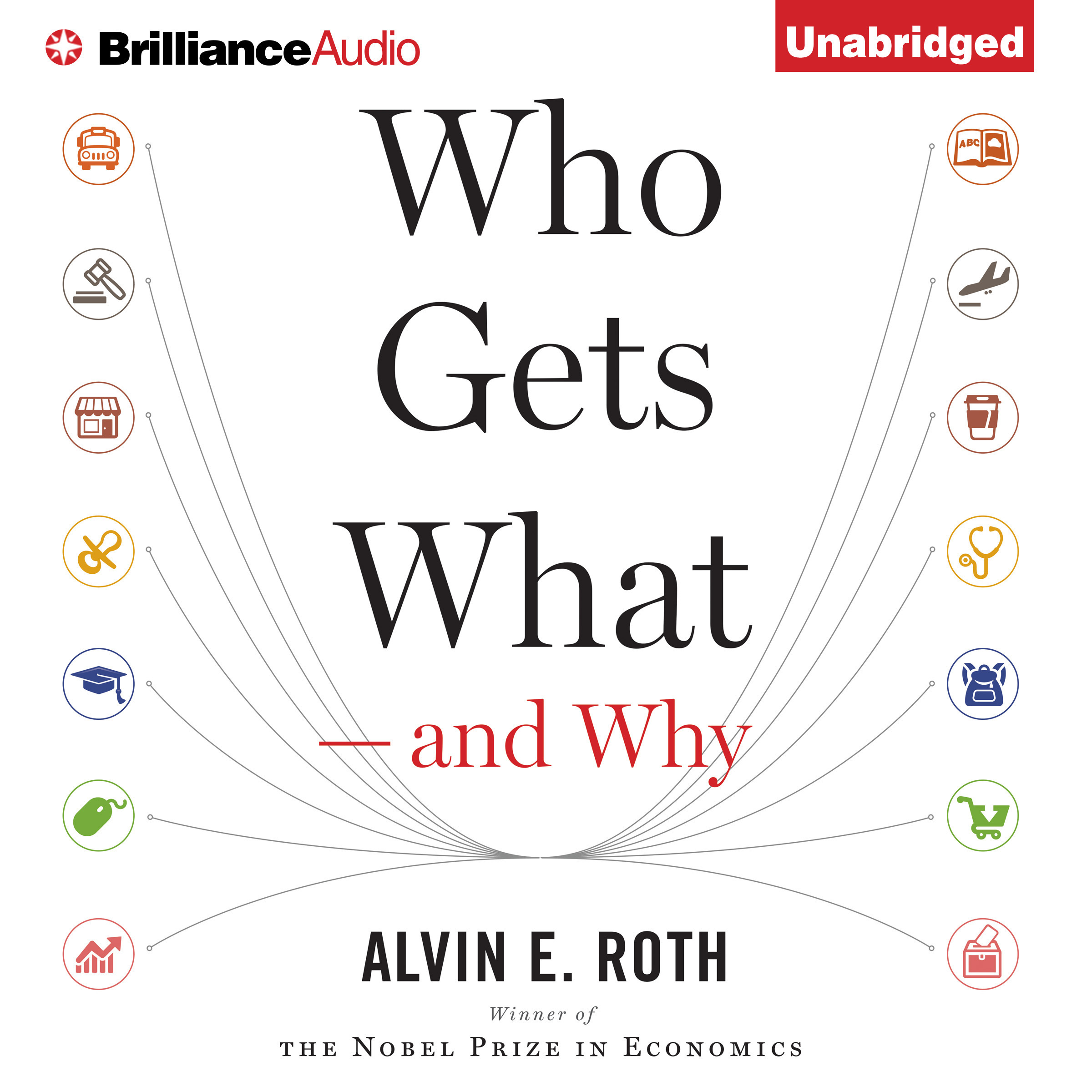 Printable Who Gets What—and Why: The New Economics of Matchmaking and Market Design Audiobook Cover Art