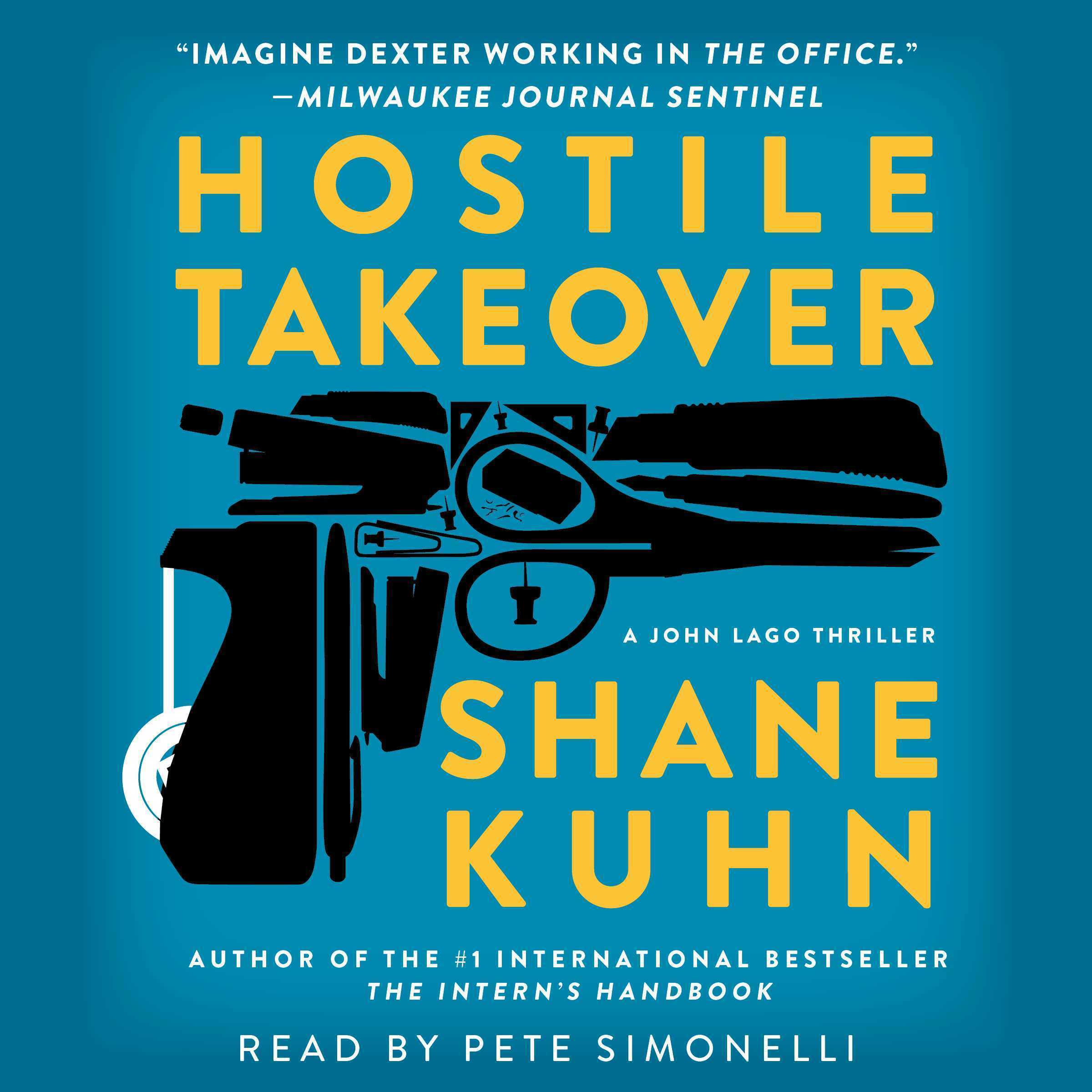 Printable Hostile Takeover: A John Lago Thriller Audiobook Cover Art