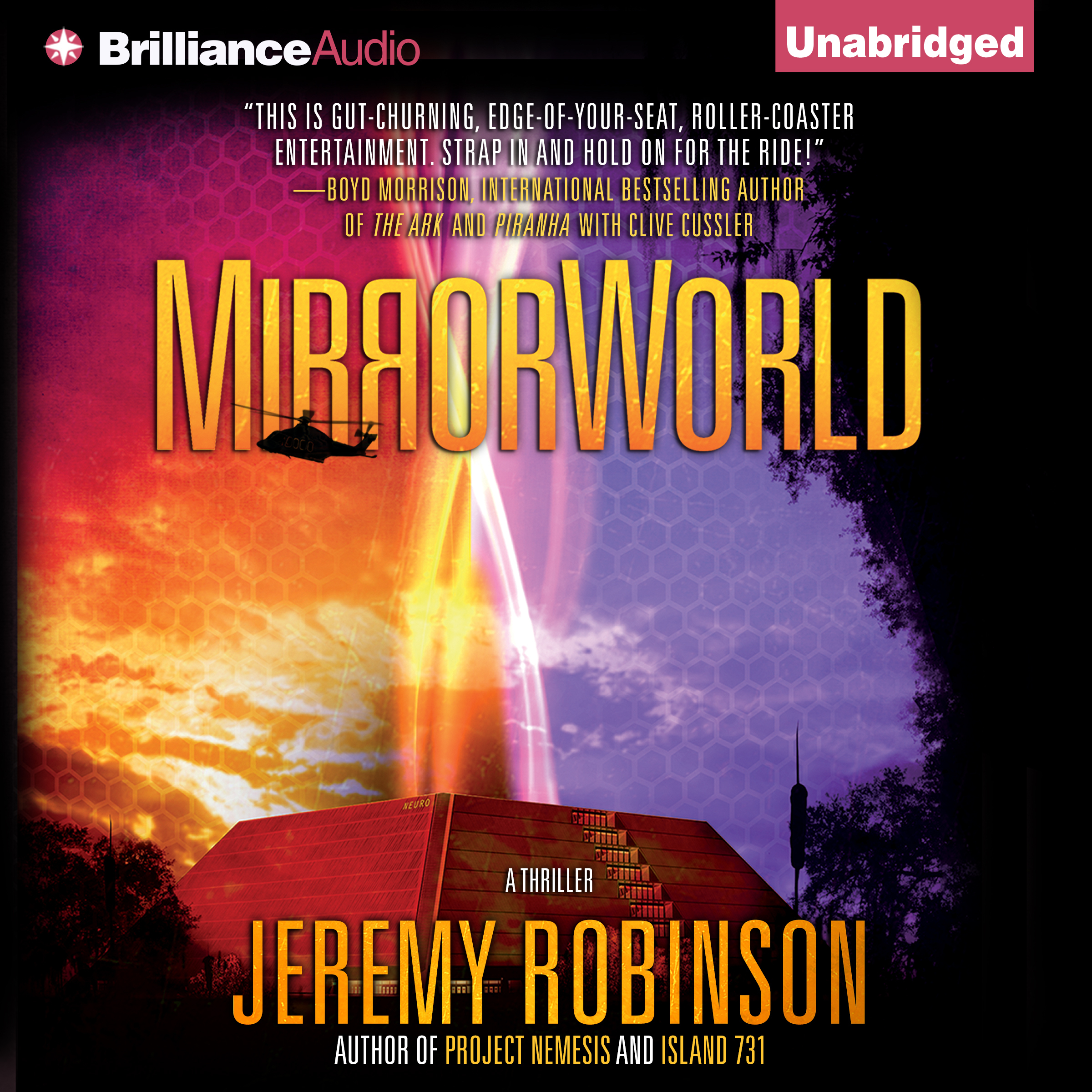 Printable MirrorWorld: A Thriller Audiobook Cover Art