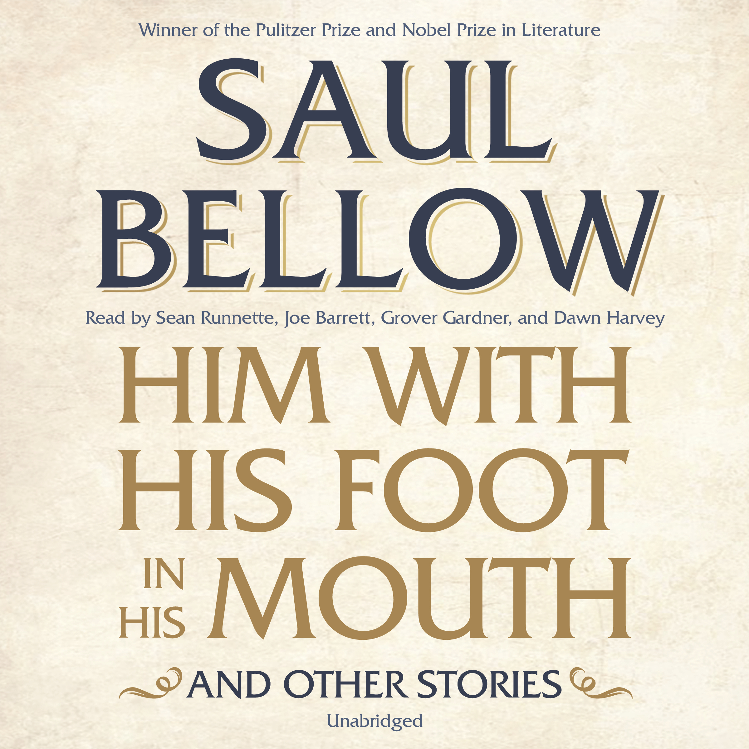 Printable Him with His Foot in His Mouth, and Other Stories Audiobook Cover Art