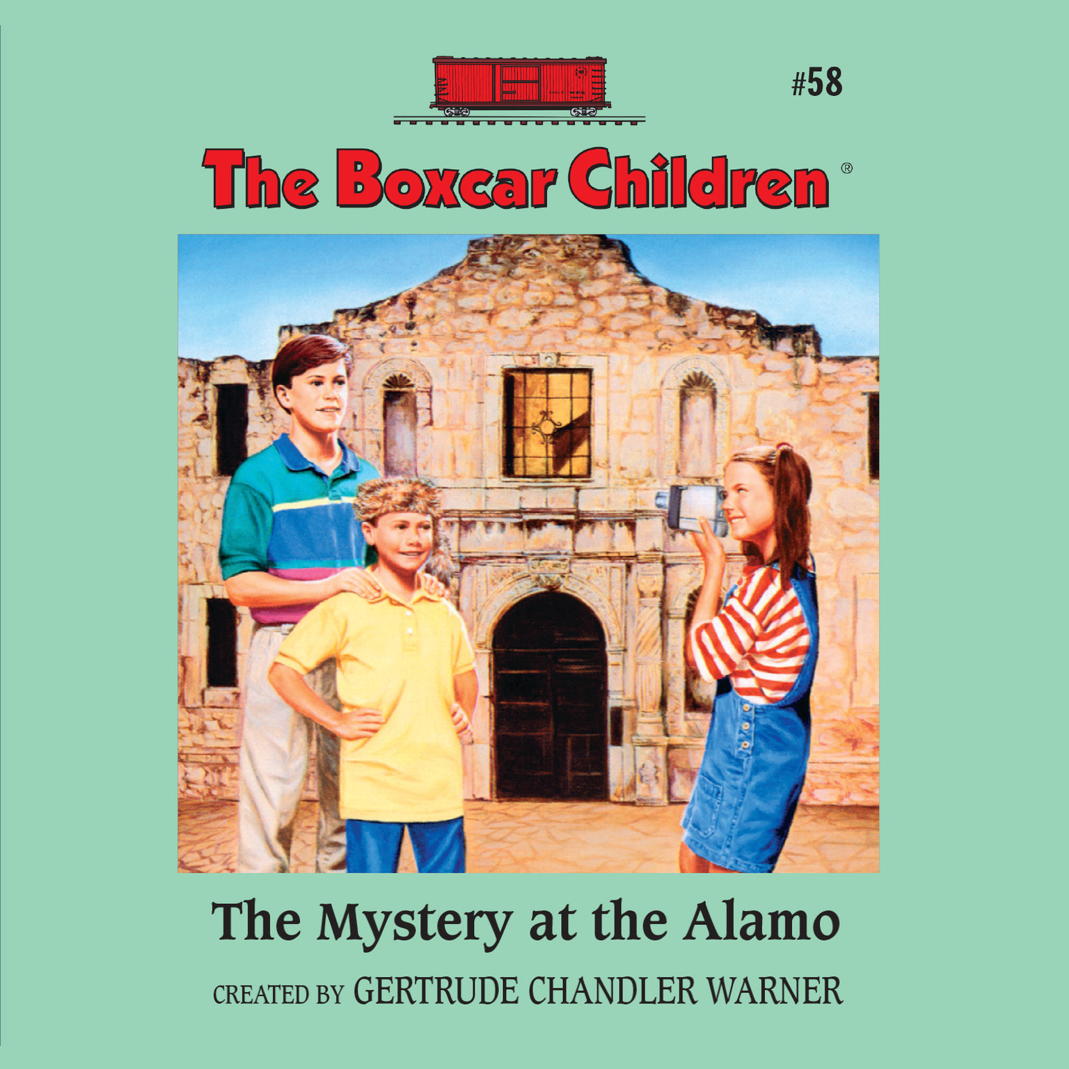 Printable The Mystery at the Alamo Audiobook Cover Art