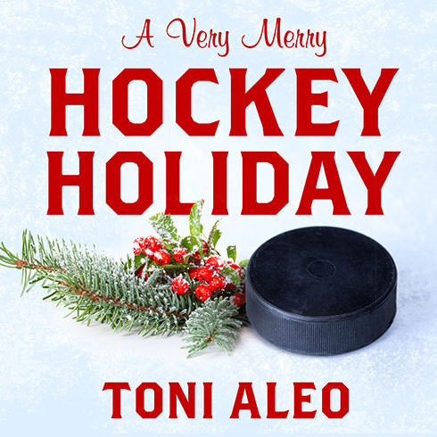 Printable A Very Merry Hockey Holiday Audiobook Cover Art