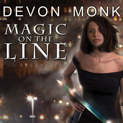 Printable Magic on the Line: An Allie Beckstrom Novel Audiobook Cover Art
