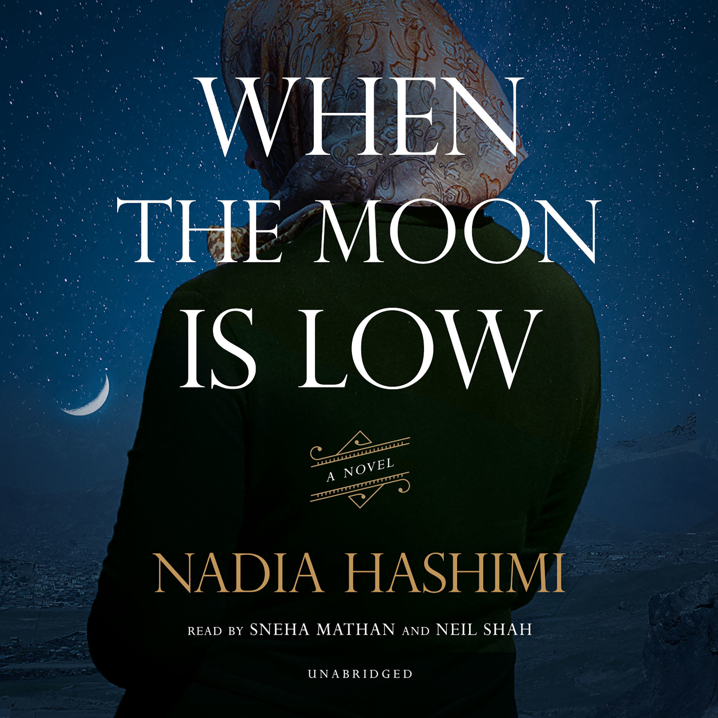 Printable When the Moon Is Low Audiobook Cover Art