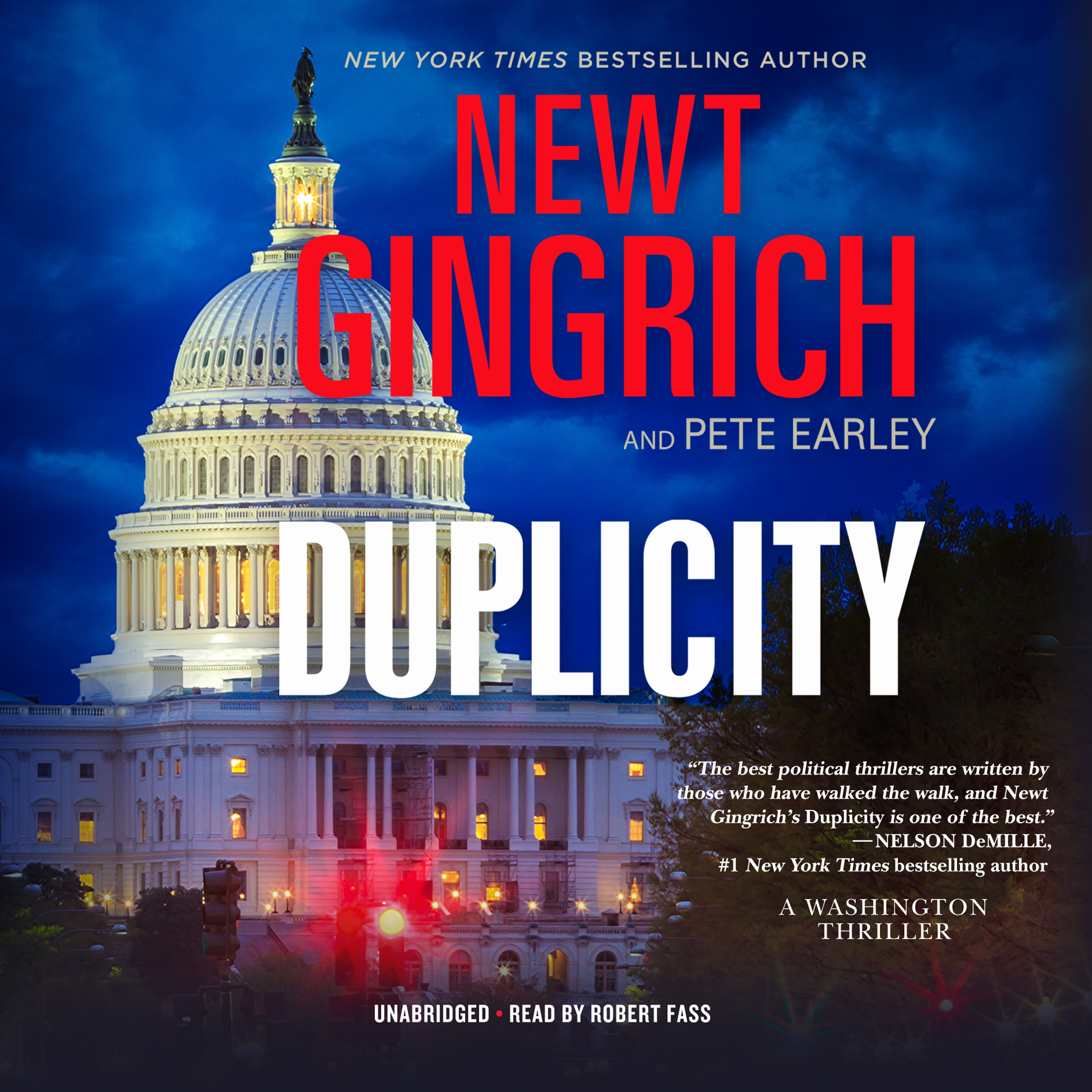 Printable Duplicity: A Novel Audiobook Cover Art