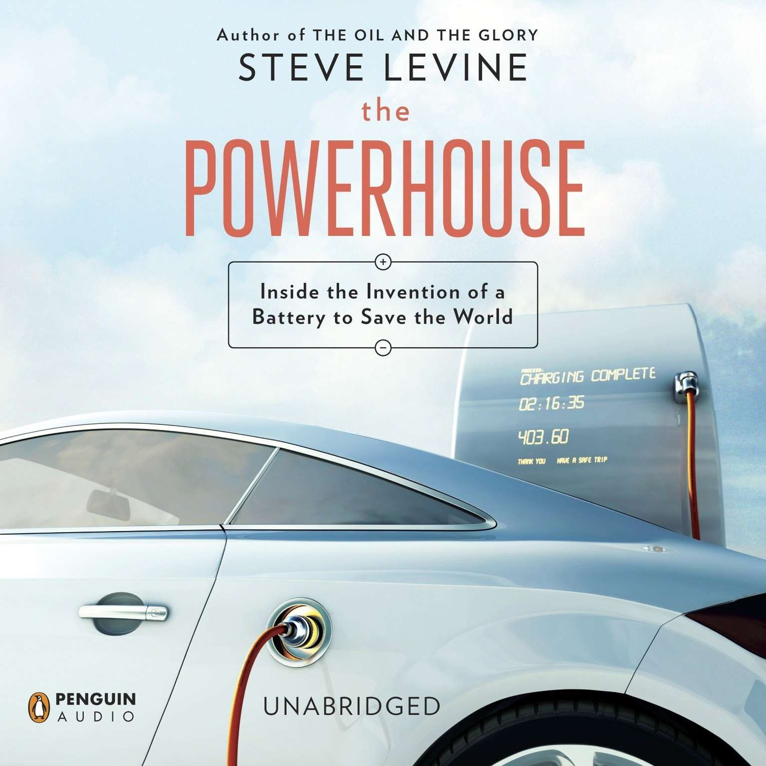 Printable The Powerhouse: Inside the Invention of a Battery to Save the World Audiobook Cover Art