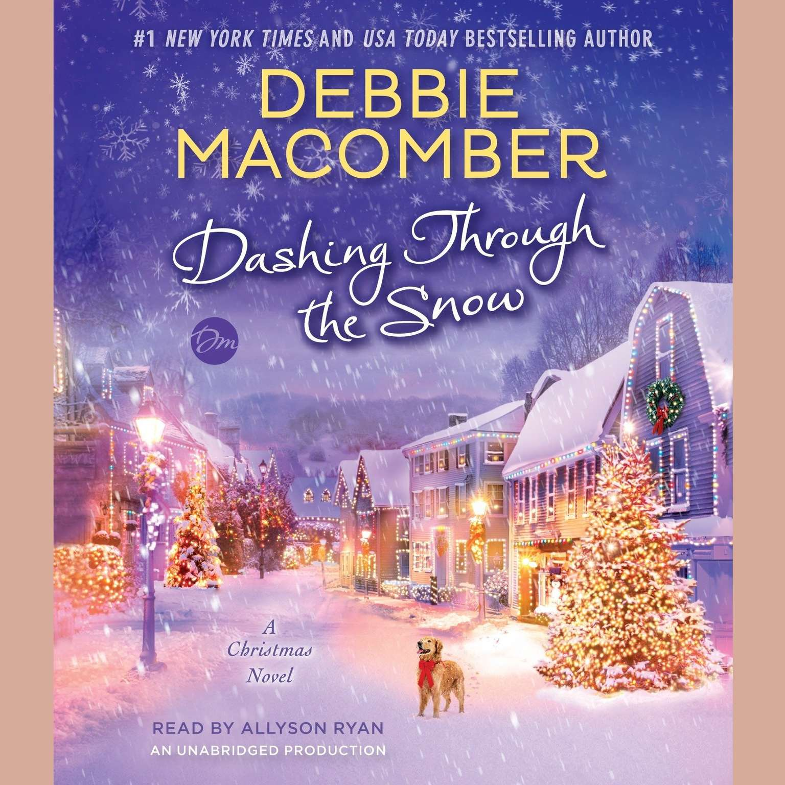 Printable Dashing Through the Snow: A Christmas Novel Audiobook Cover Art
