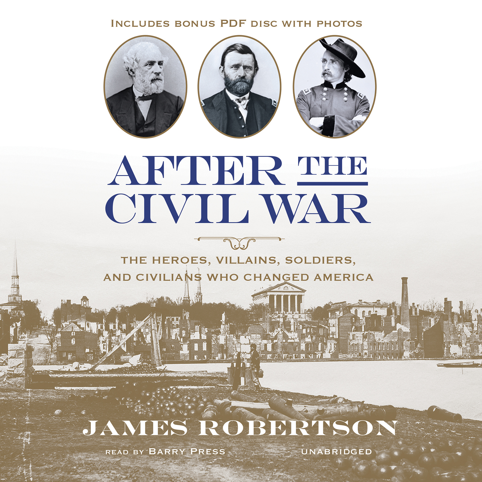 Printable After the Civil War: The Heroes, Villains, Soldiers, and Civilians Who Changed America Audiobook Cover Art