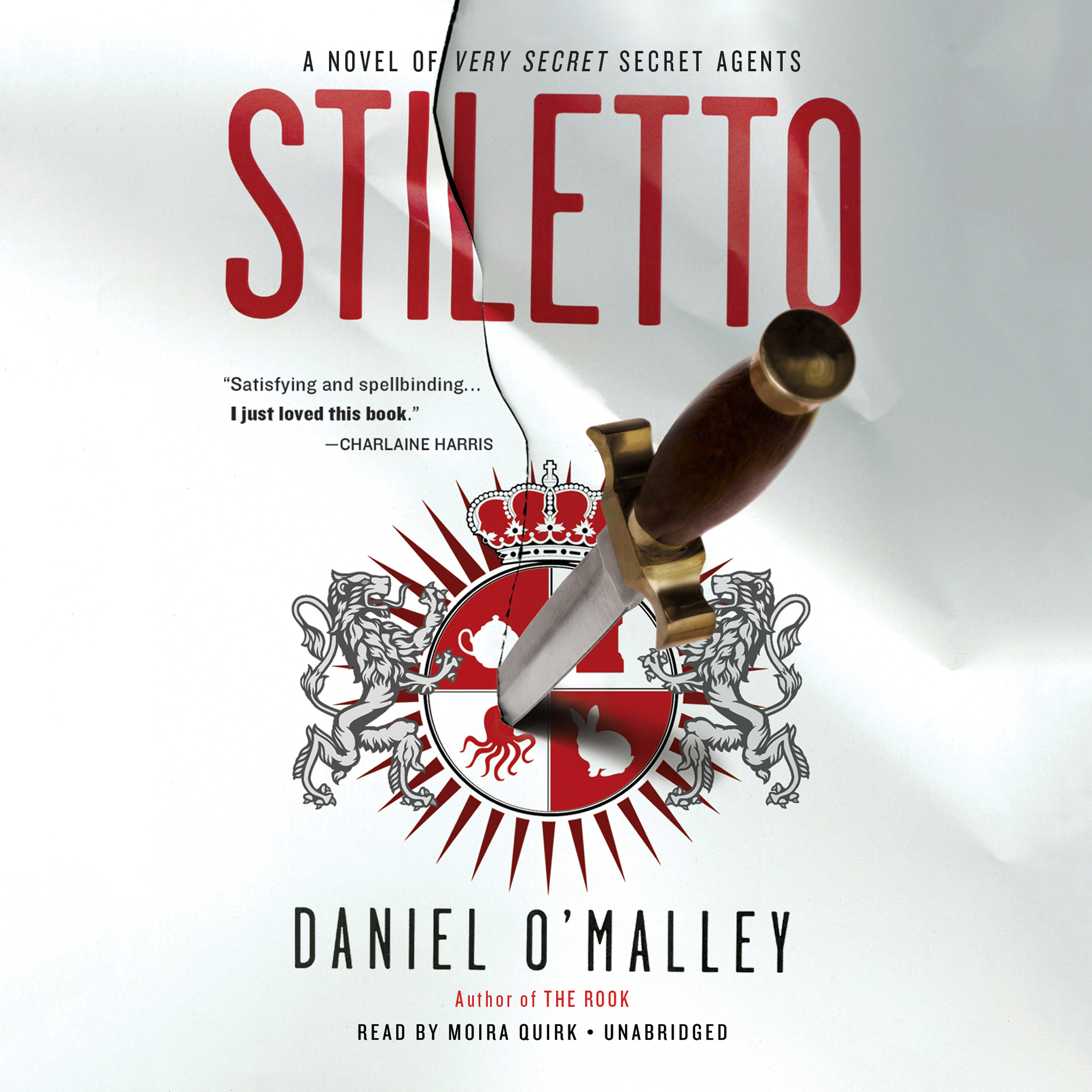 Printable Stiletto: A Novel Audiobook Cover Art