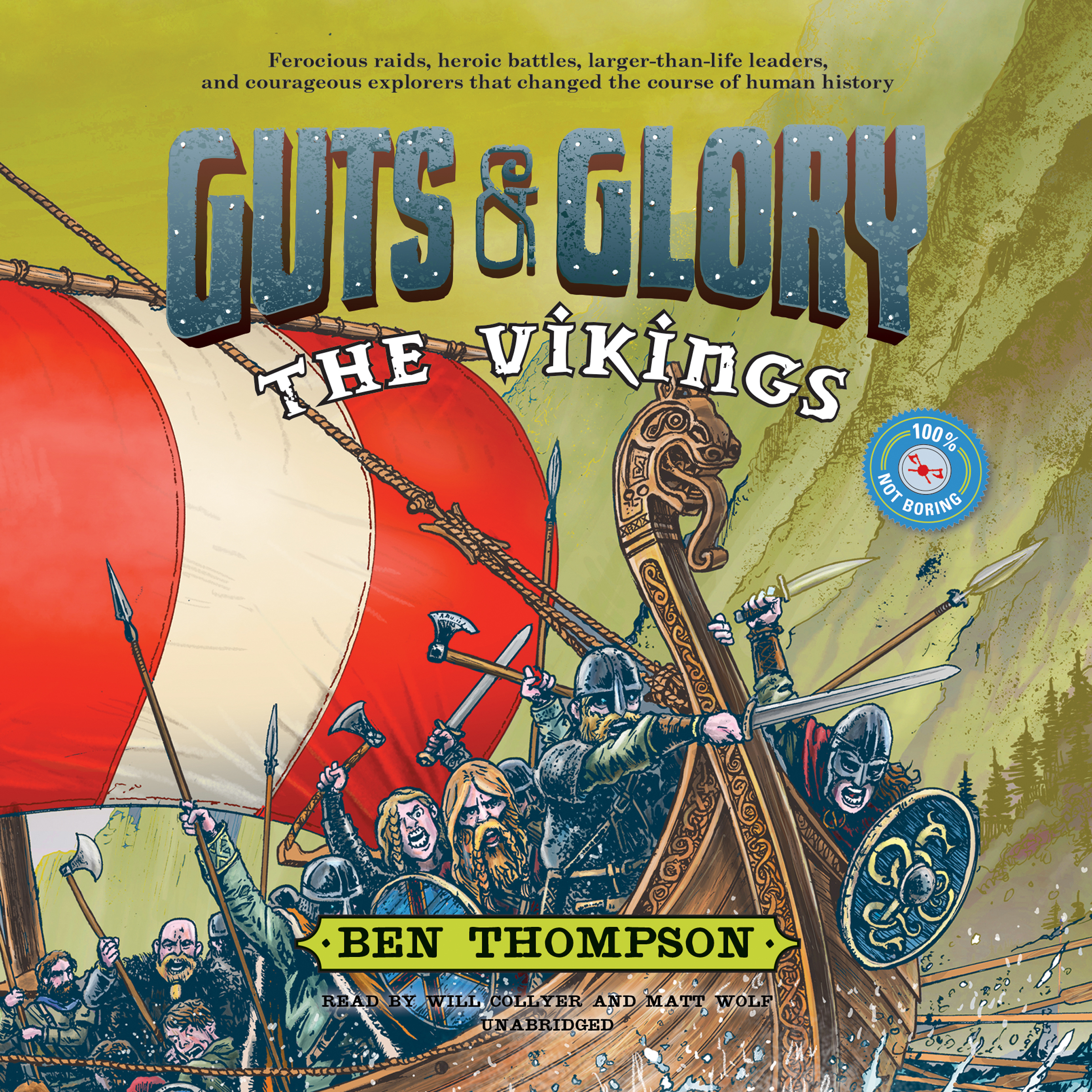 Printable Guts & Glory: The Vikings Audiobook Cover Art