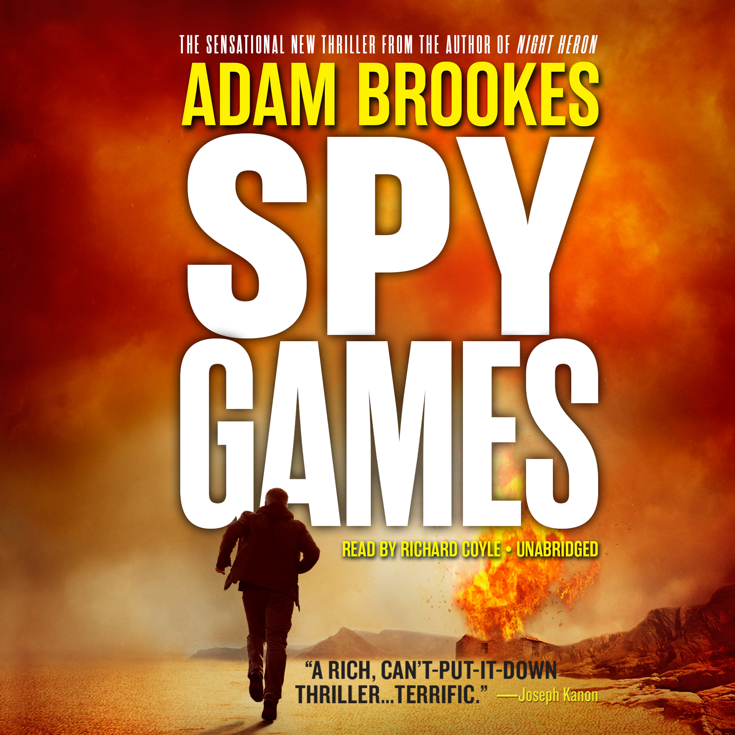 Printable Spy Games Audiobook Cover Art