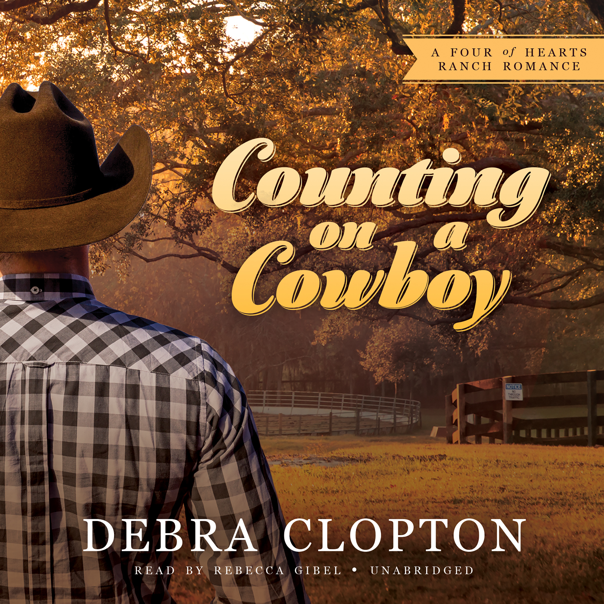 Printable Counting on a Cowboy: A Four of Hearts Ranch Romance Audiobook Cover Art