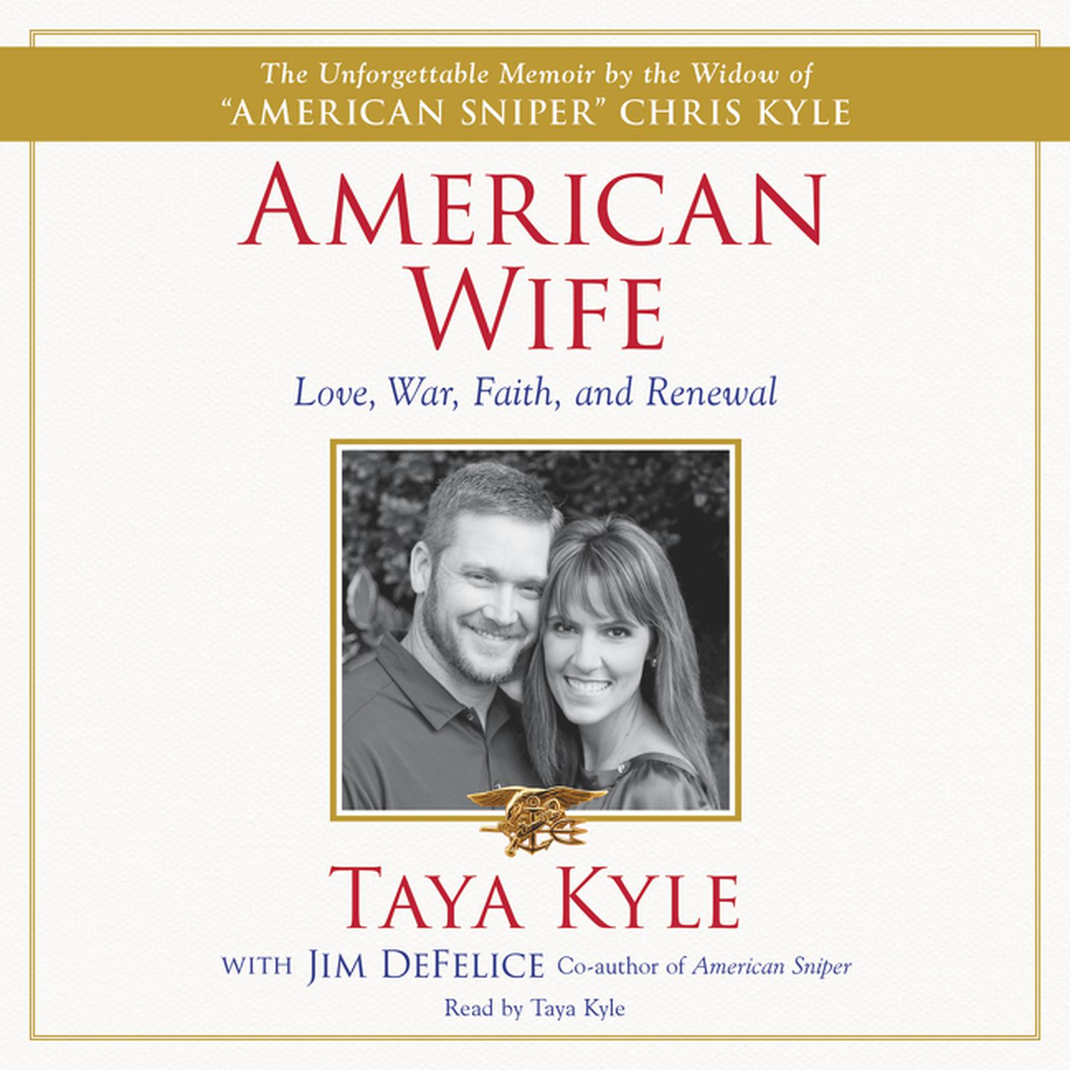 Printable American Wife: A Memoir of Love, War, Faith, and Renewal Audiobook Cover Art