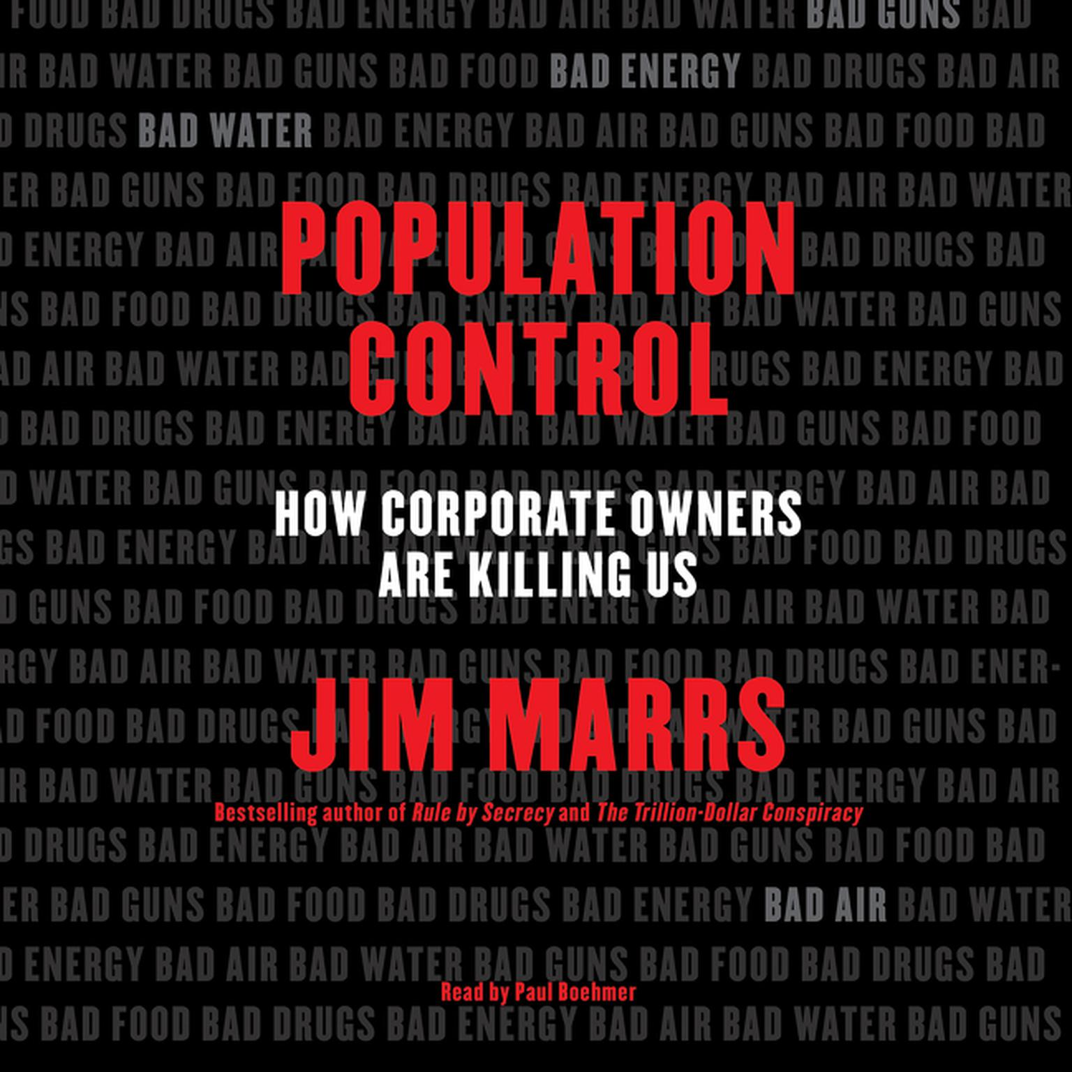 Printable Population Control: How Corporate Owners Are Killing Us Audiobook Cover Art