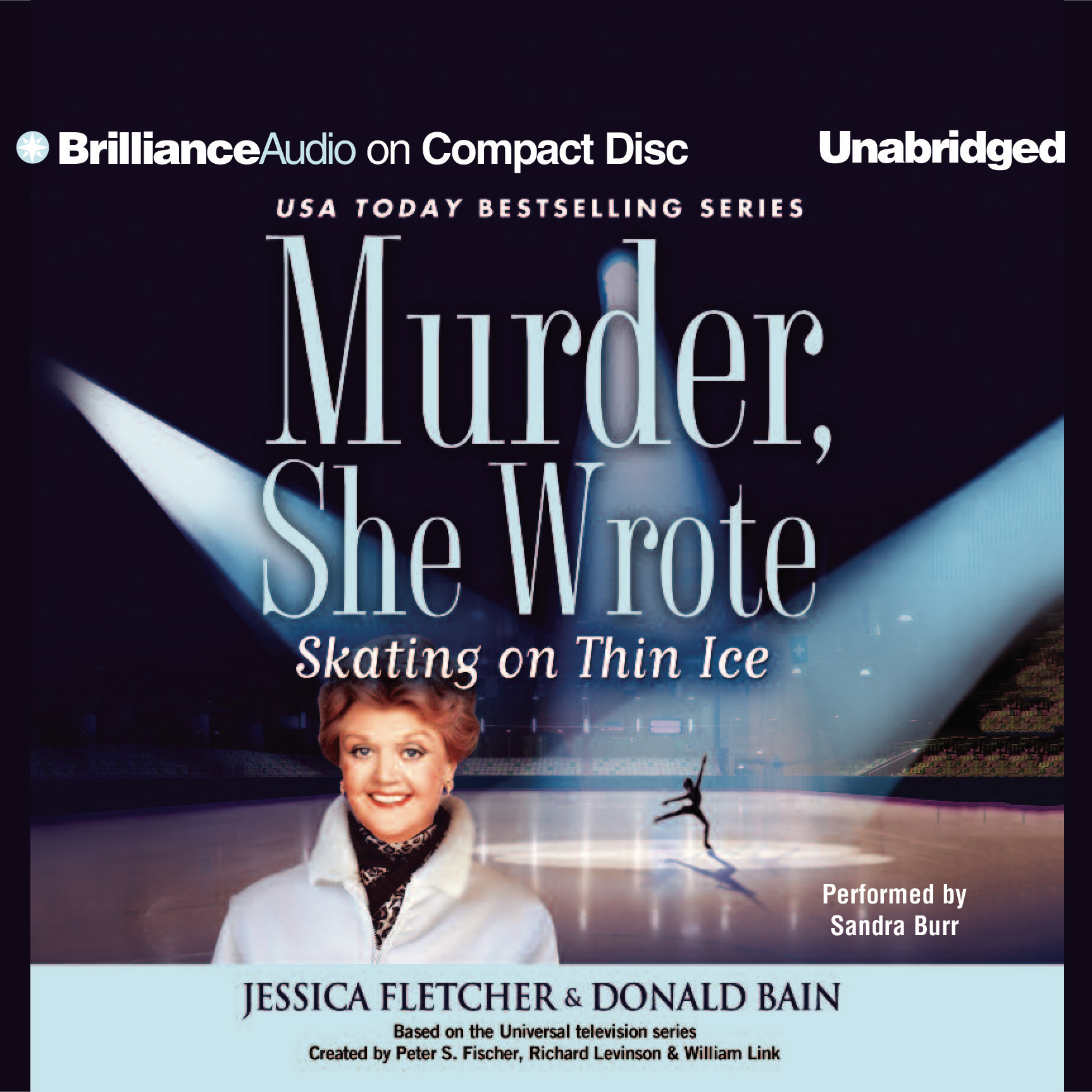 Printable Skating on Thin Ice: A Murder, She Wrote Mystery Audiobook Cover Art