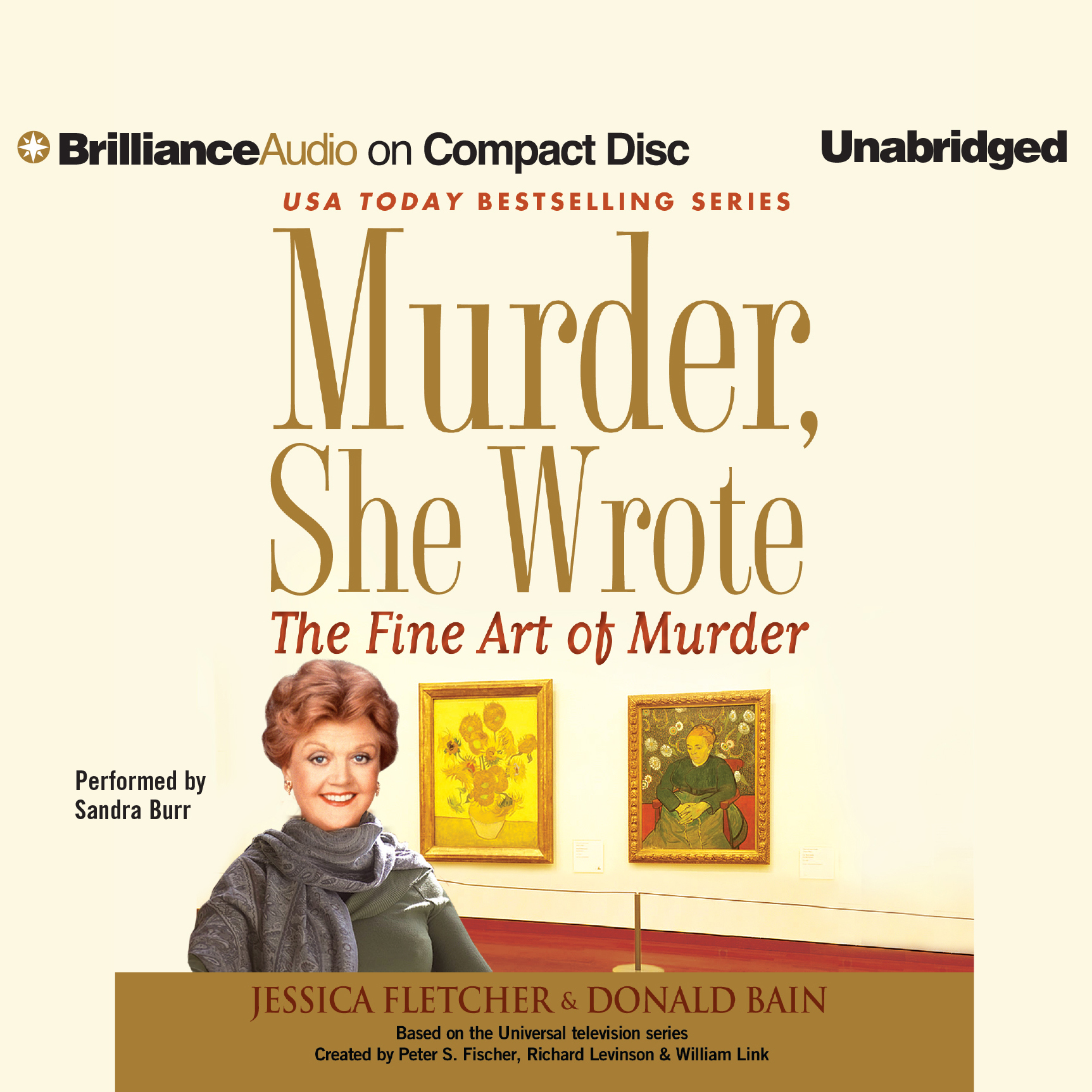 Printable The Fine Art of Murder: A Murder, She Wrote Mystery Audiobook Cover Art