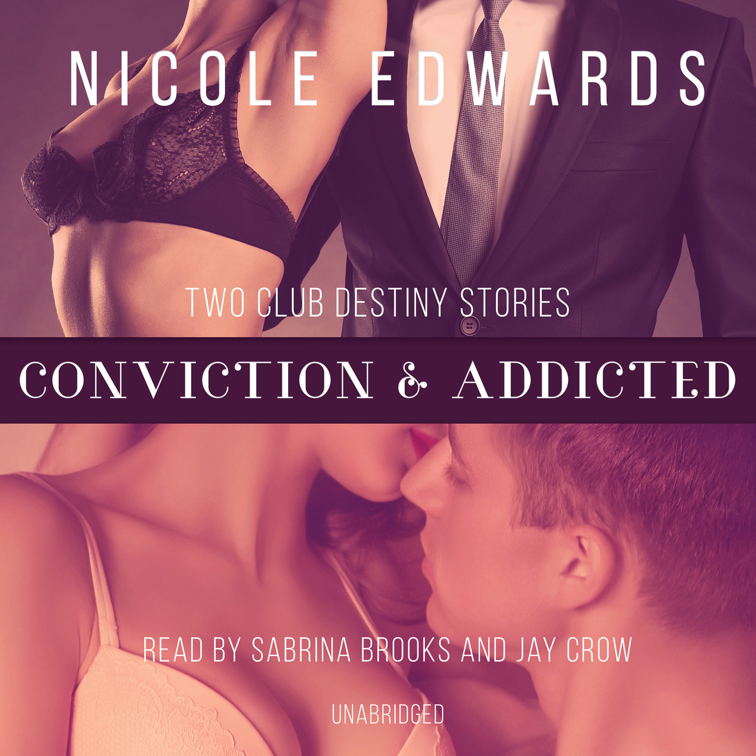 Printable Conviction & Addicted Audiobook Cover Art