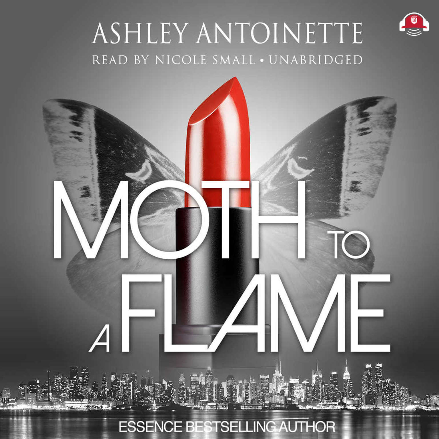 Printable Moth to a Flame Audiobook Cover Art