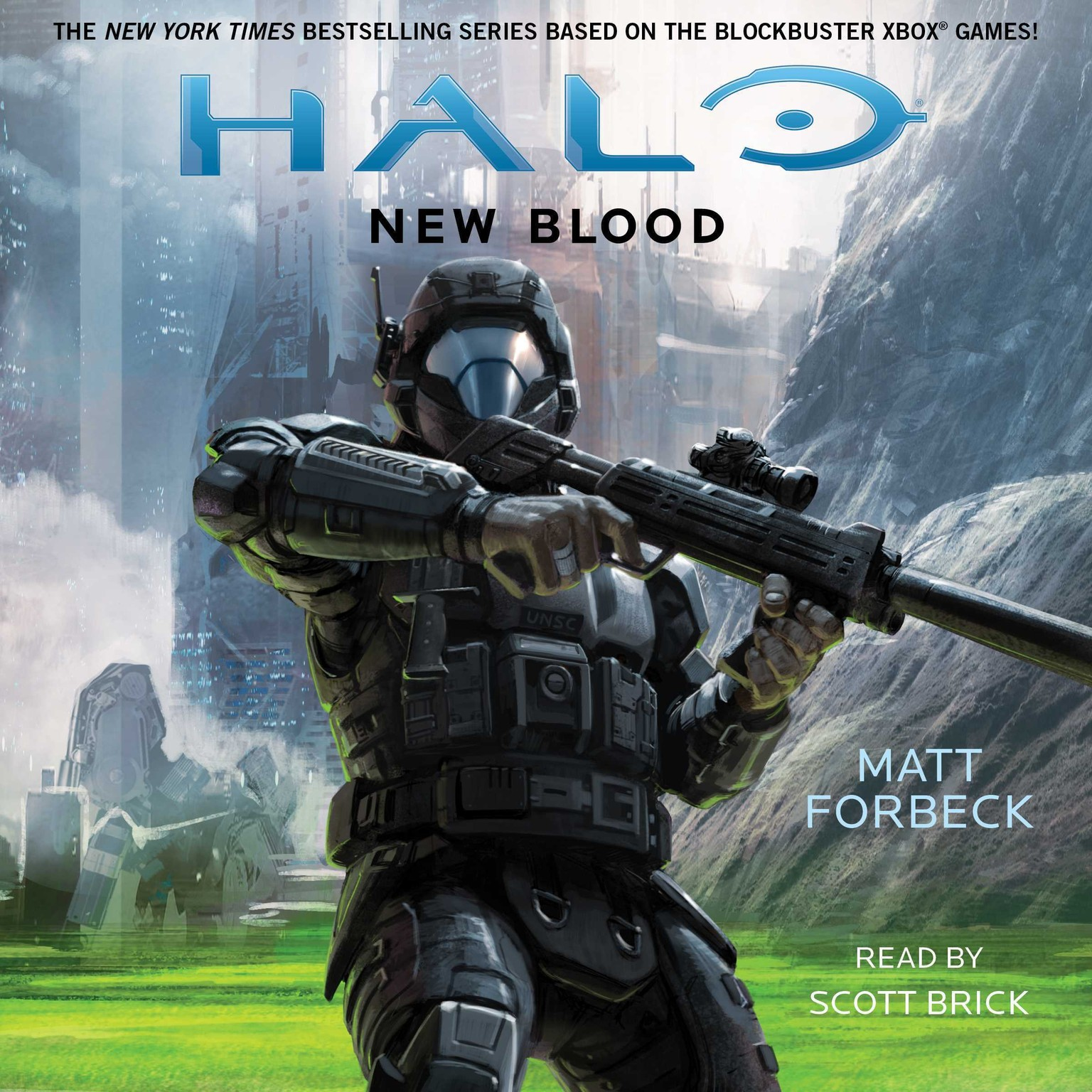 Printable HALO: New Blood Audiobook Cover Art