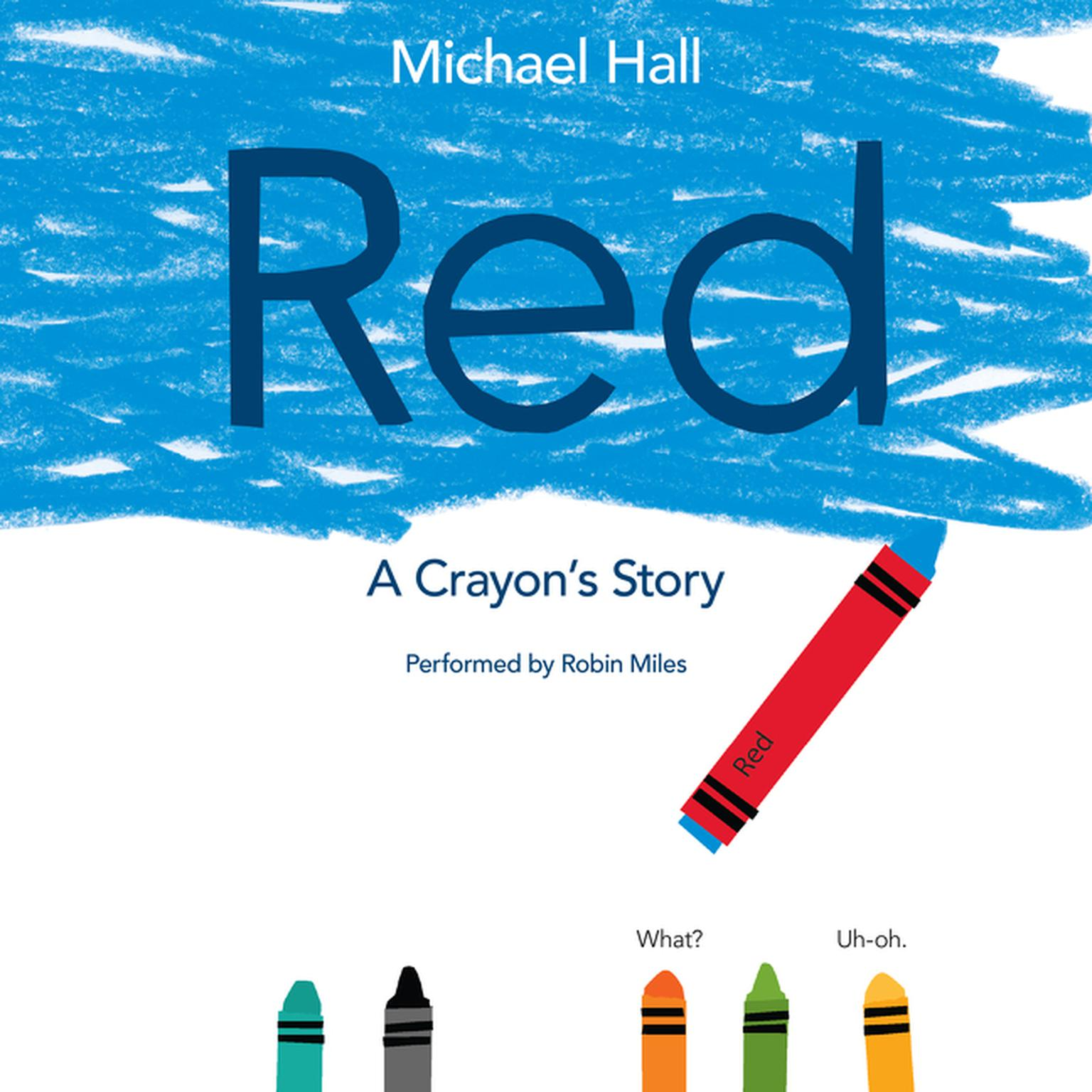 Printable Red: A Crayon's Story Audiobook Cover Art