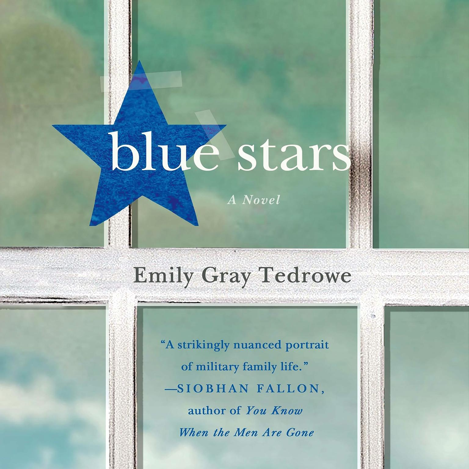 Printable Blue Stars: A Novel Audiobook Cover Art