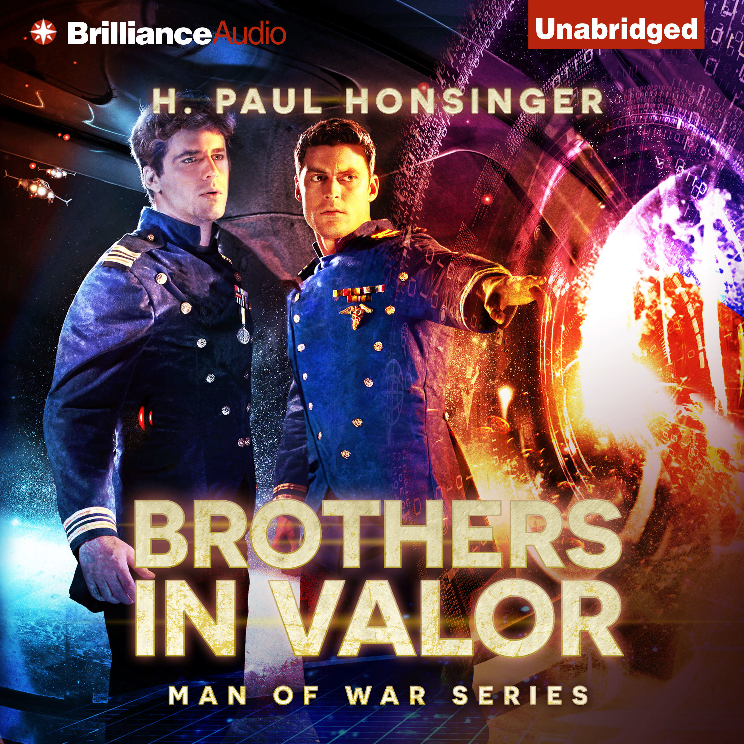 Printable Brothers in Valor: A Novel of Interstellar War Audiobook Cover Art